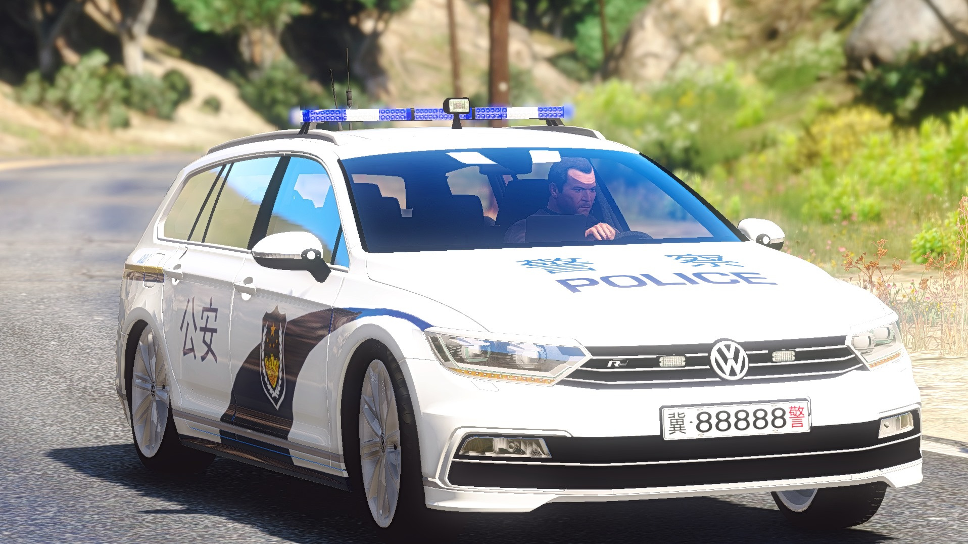 2015 volkswagen passat chinese police gta5. Black Bedroom Furniture Sets. Home Design Ideas