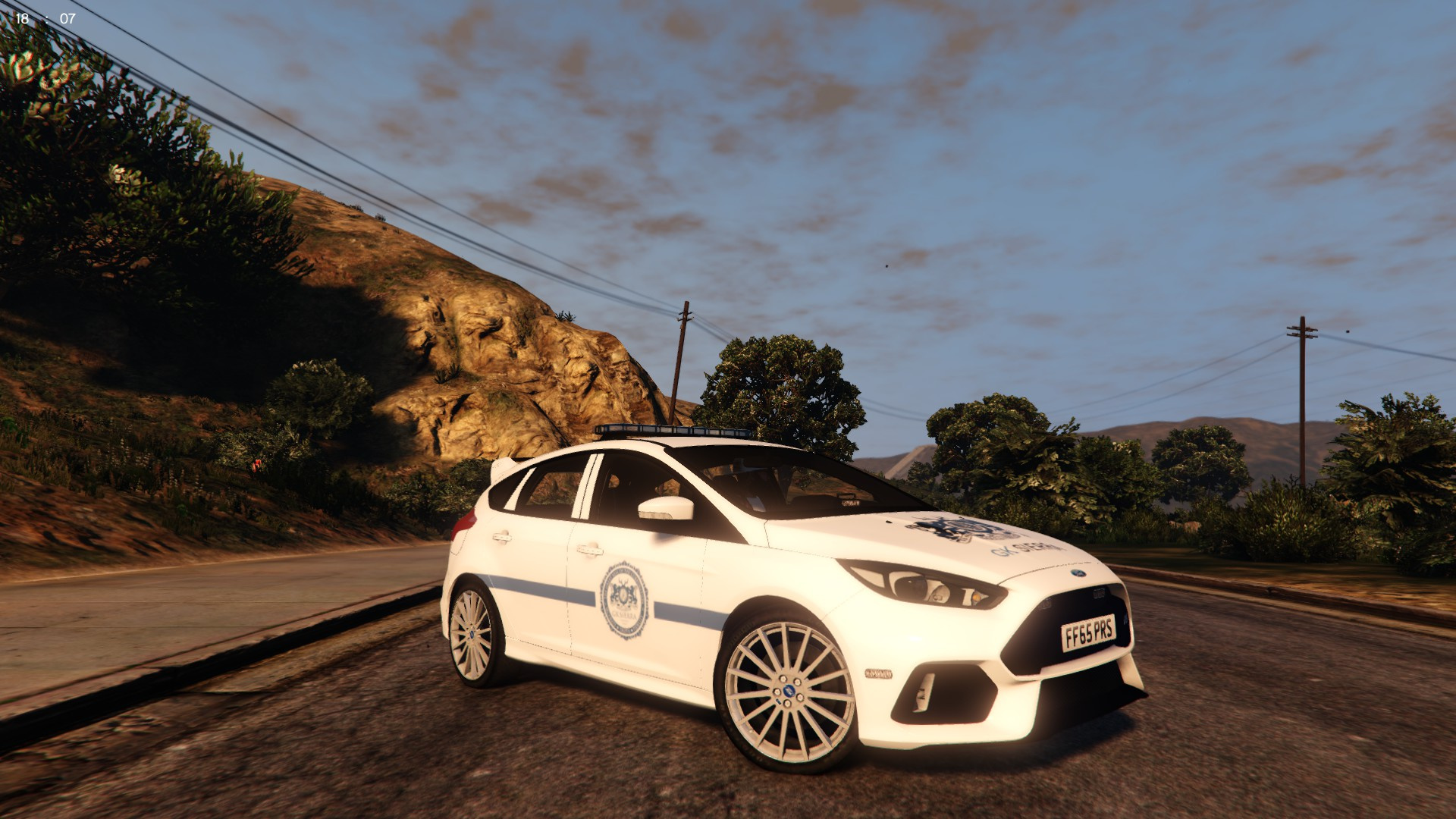 2016 2017 ford focus rs security car pack gta5. Black Bedroom Furniture Sets. Home Design Ideas