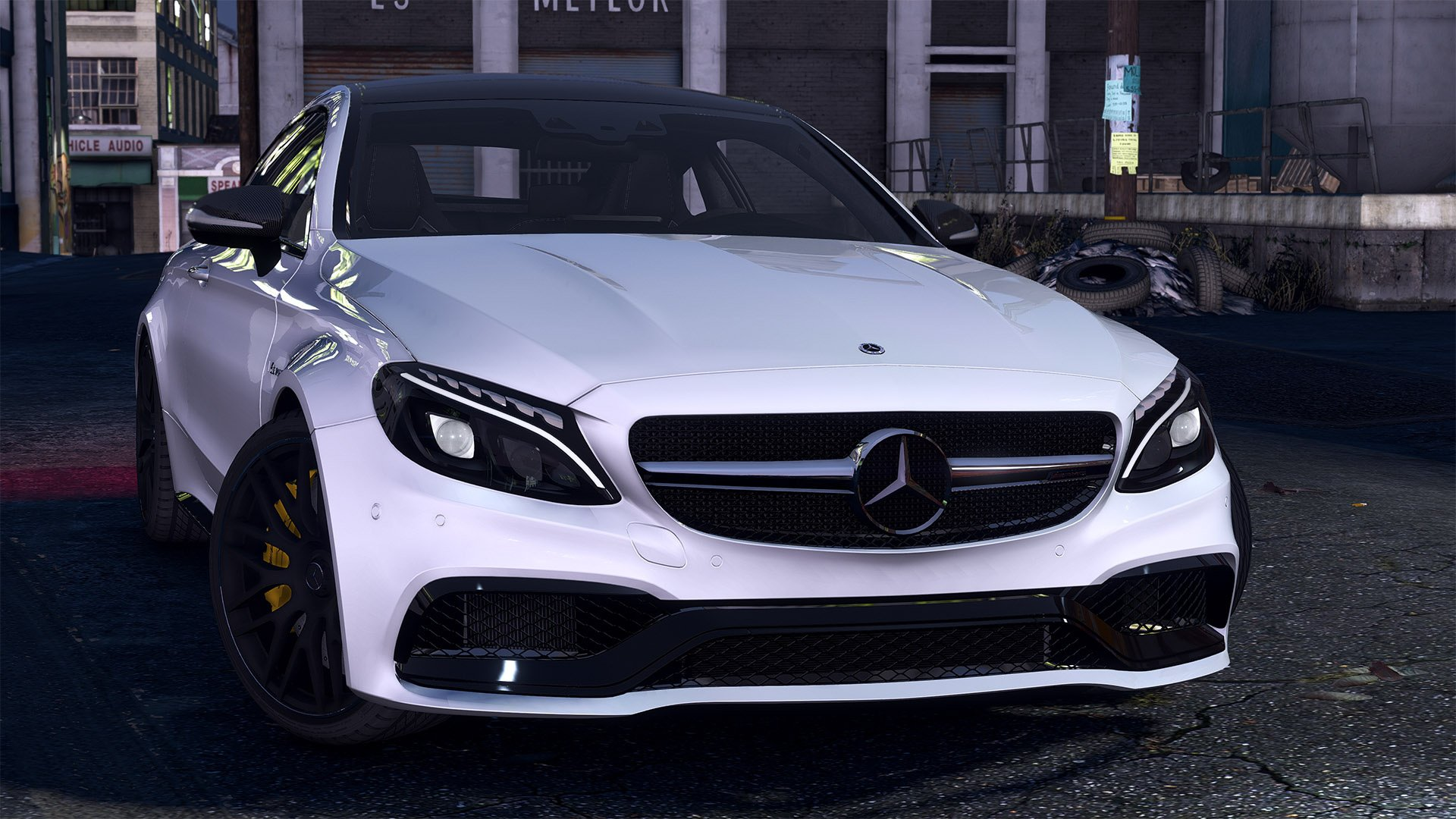 2016 mercedes c63 amg s coupe add on replace animated analog digital dials gta5. Black Bedroom Furniture Sets. Home Design Ideas