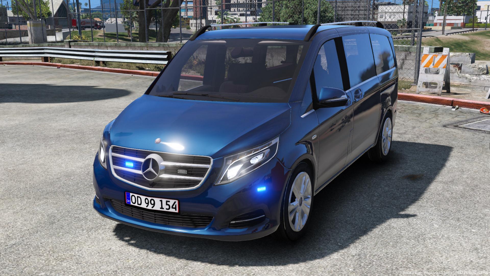 2016 Mercedes v250 Unmarked Danish Police [ELS] GTA5 Mods