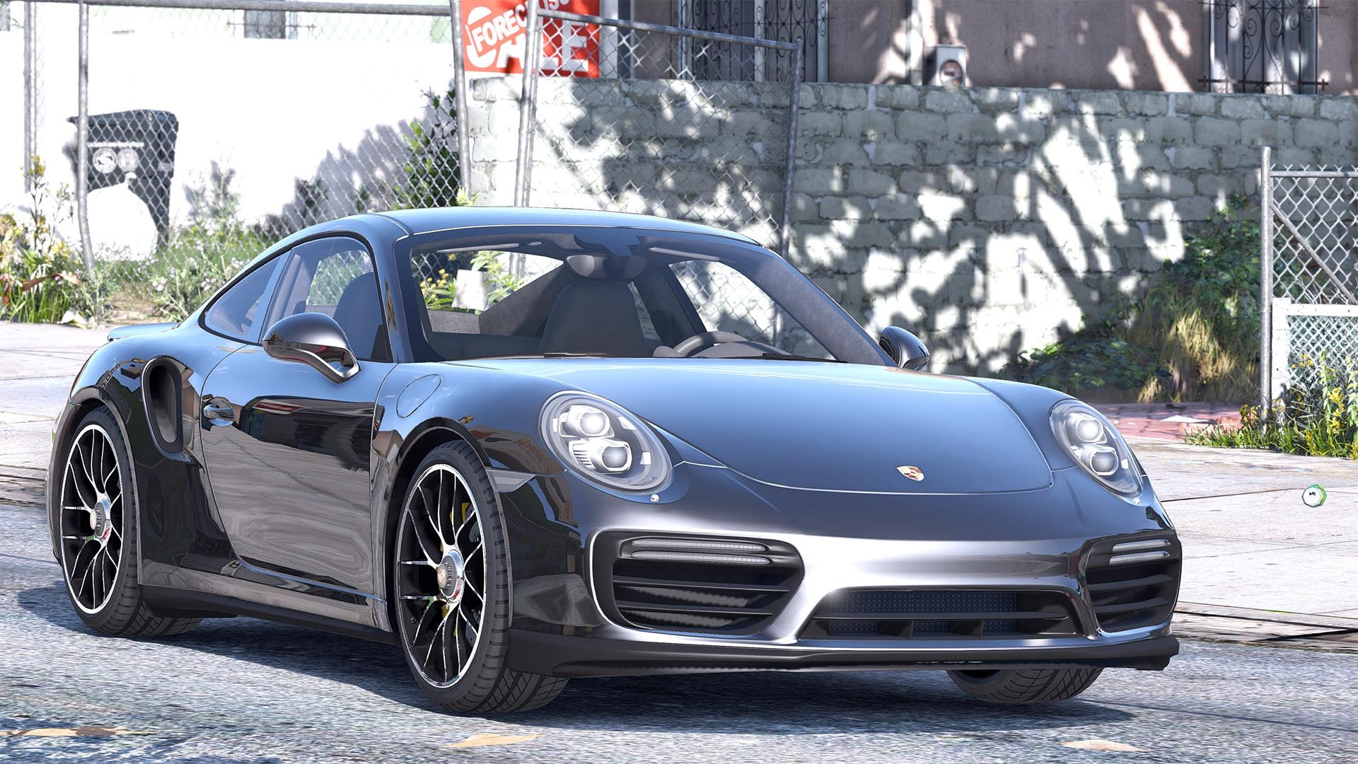 2016 porsche 911 turbo s add on replace auto spoiler animated template gta5. Black Bedroom Furniture Sets. Home Design Ideas