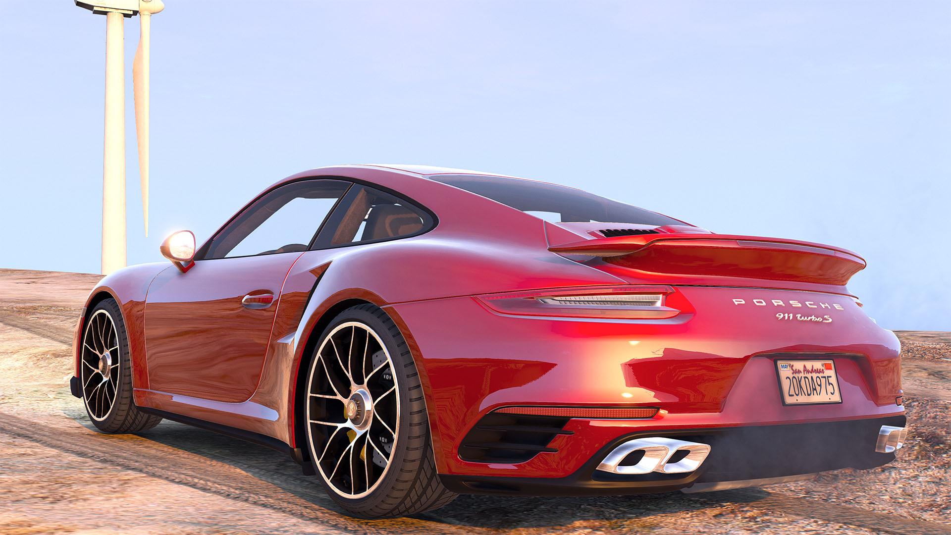 2016 porsche 911 turbo s add on replace auto spoiler animated template gta5. Black Bedroom Furniture Sets. Home Design Ideas