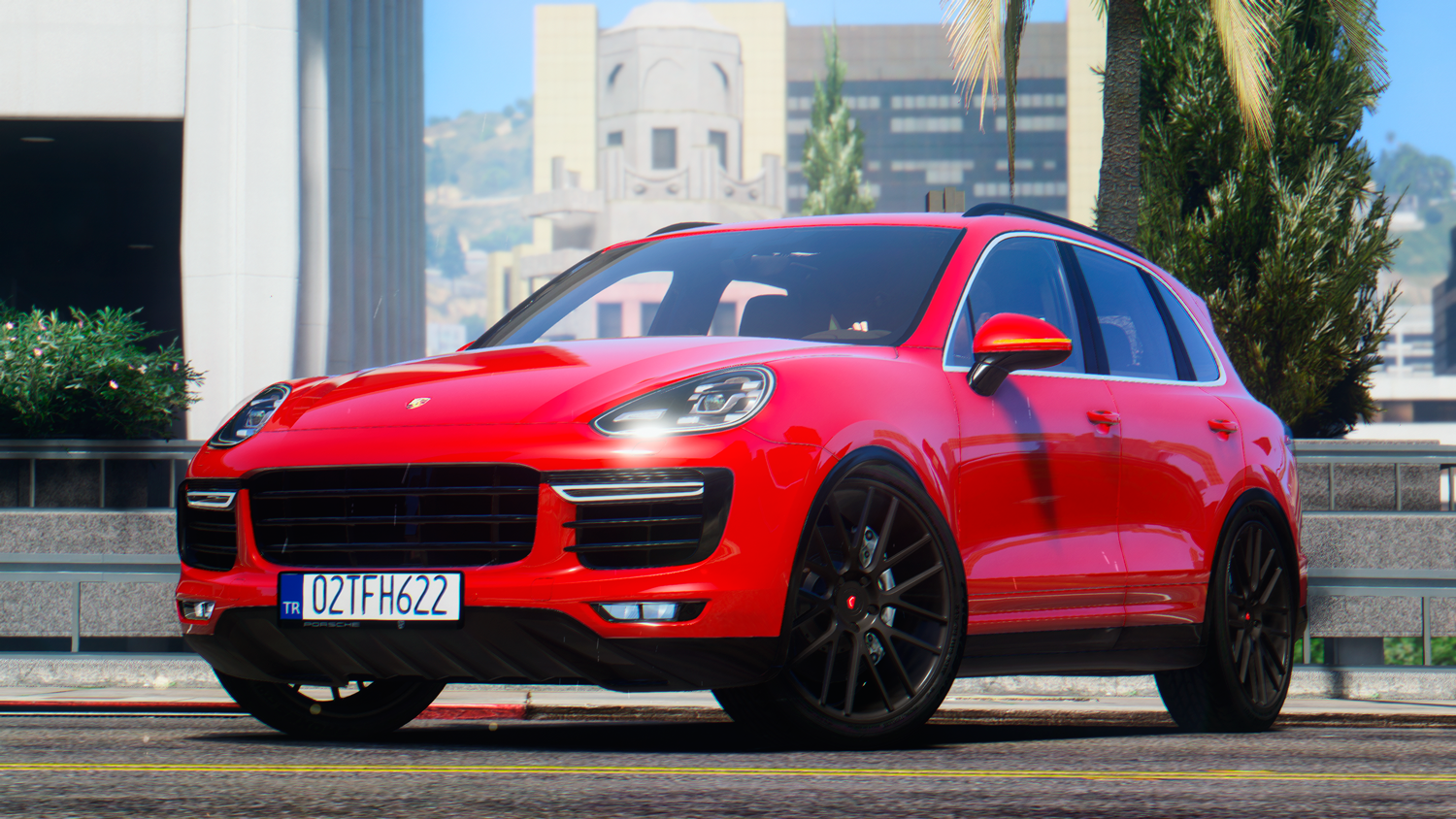 2016 porsche cayenne turbo s add on replace gta5 for Garage porsche caen