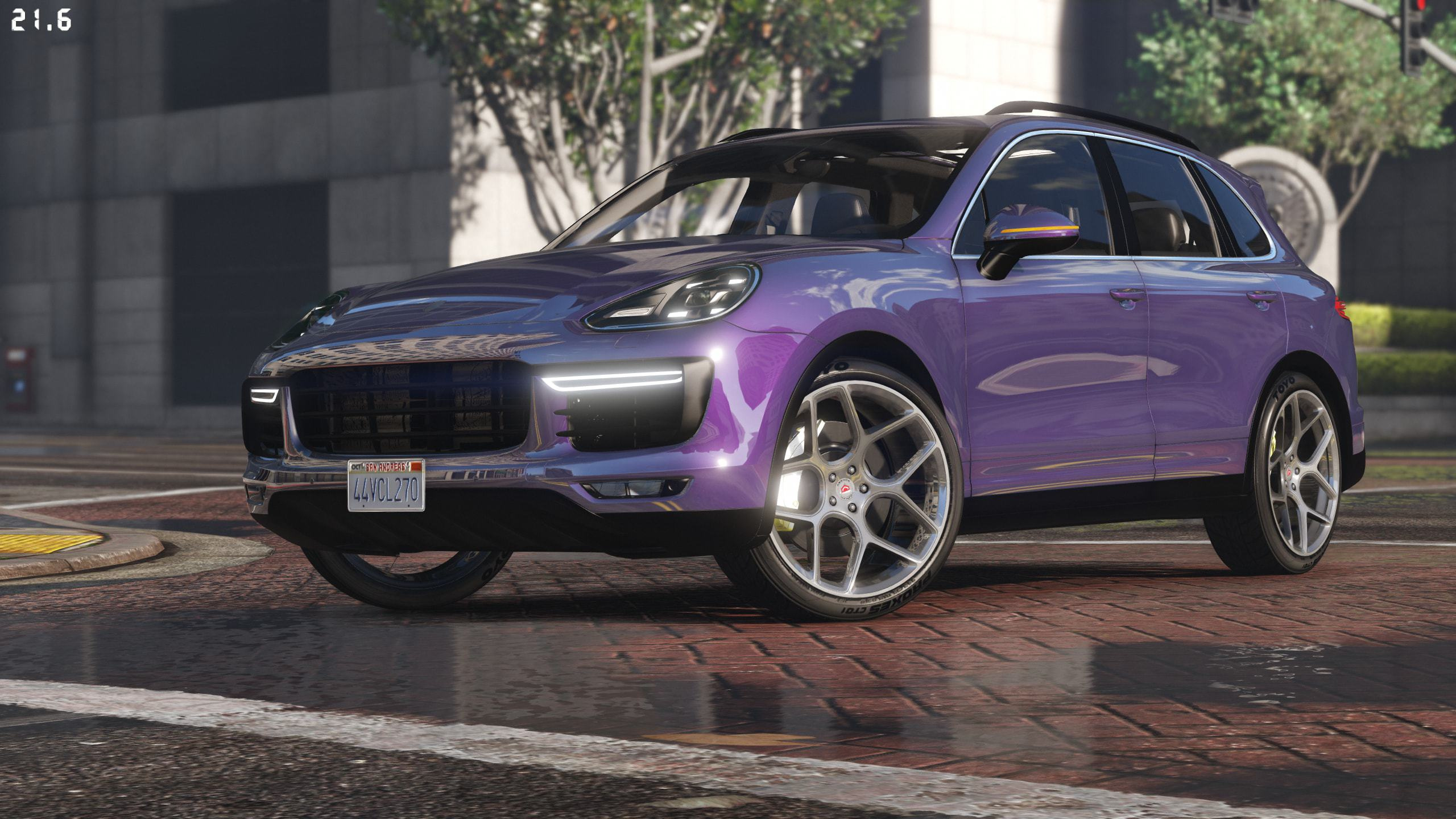 2016 porsche cayenne turbo s add on replace gta5. Black Bedroom Furniture Sets. Home Design Ideas