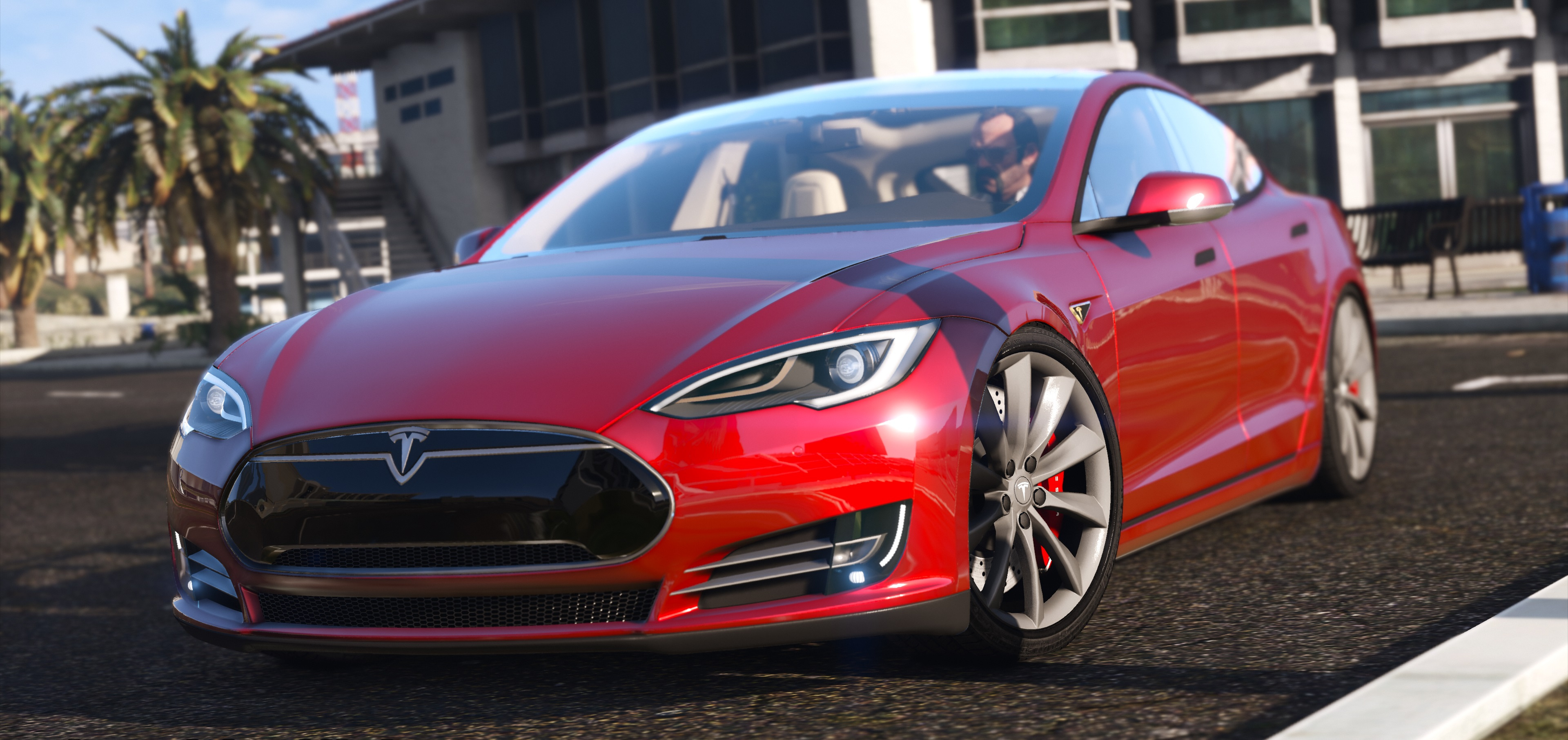 2016 tesla model s p90d gta5. Black Bedroom Furniture Sets. Home Design Ideas