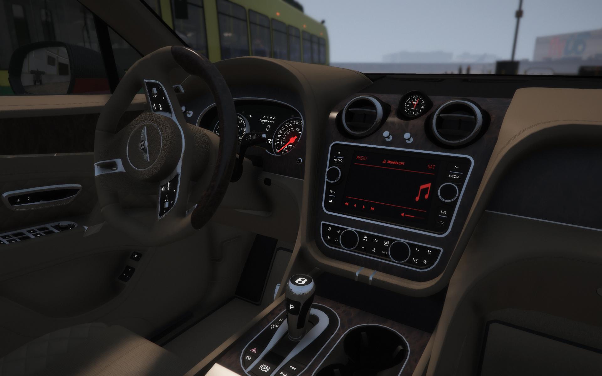 2017 Bentley Bentayga Mansory Add On Tuning Analog Digital Dials Gta5 Mods Com