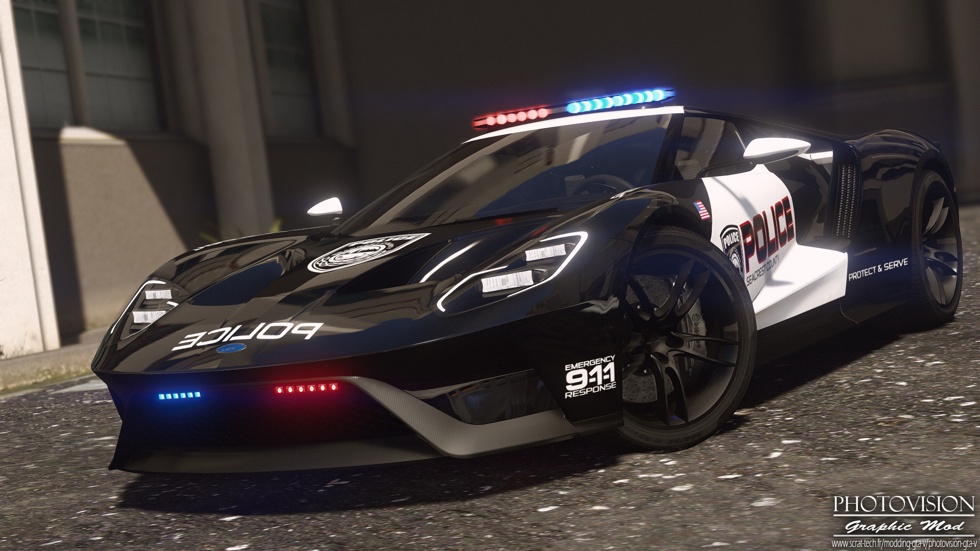 2017 Ford Gt Hot Pursuit Police Add On Replace