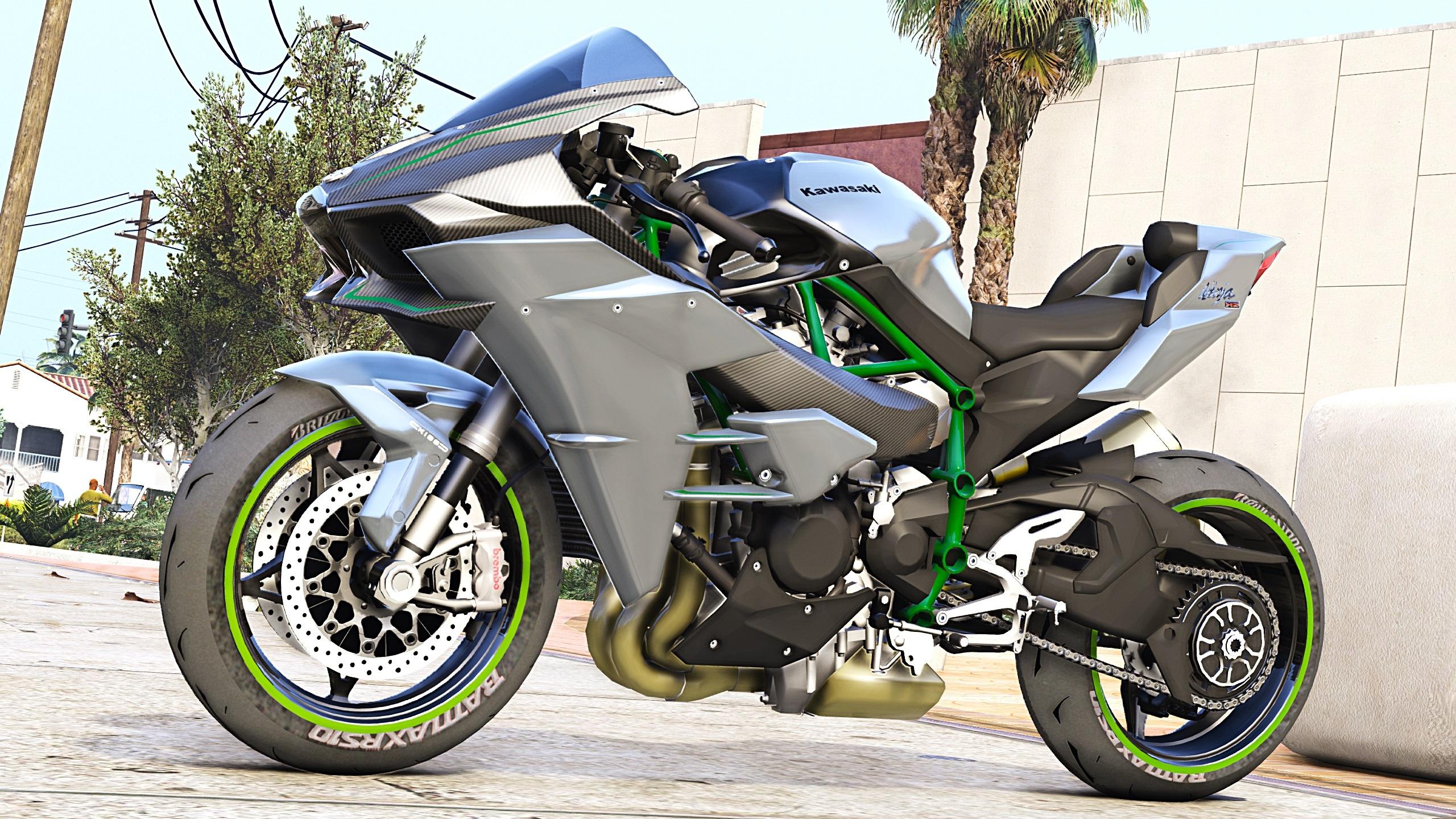 2017 Kawasaki H2 Carbon Addons Tuning Gta5 Modscom