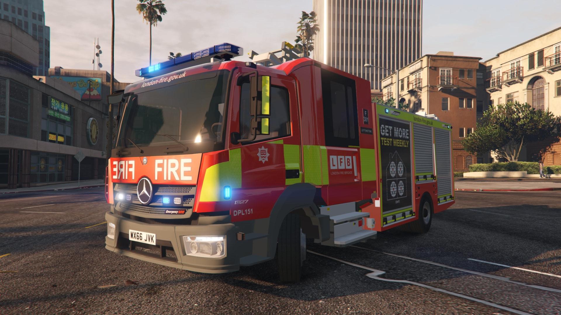 2017 London Fire Brigade Appliance [ELS] - GTA5-Mods com