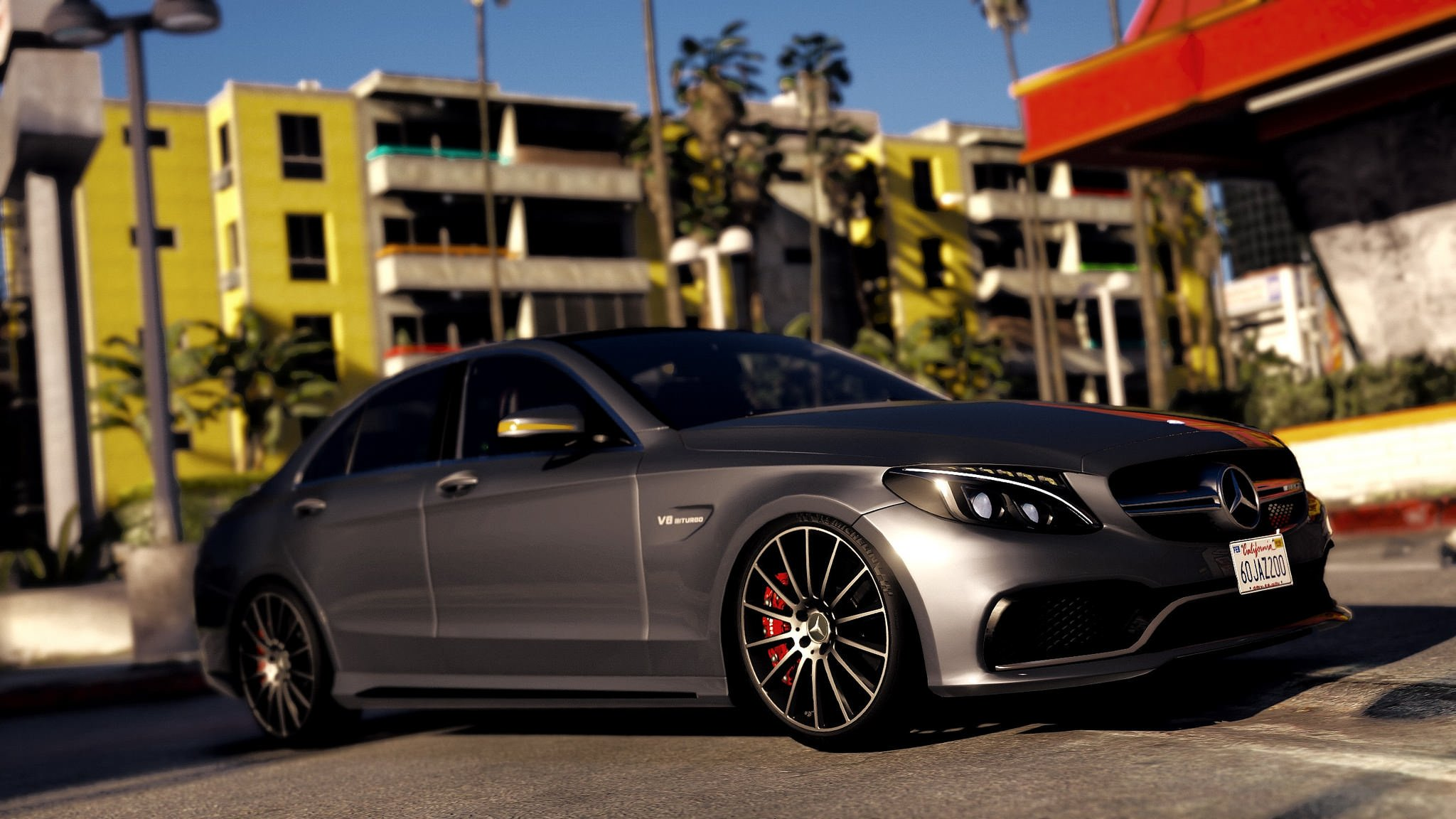 2017 mercedes amg c63 s add on replace gta5 for Mercedes benz gta