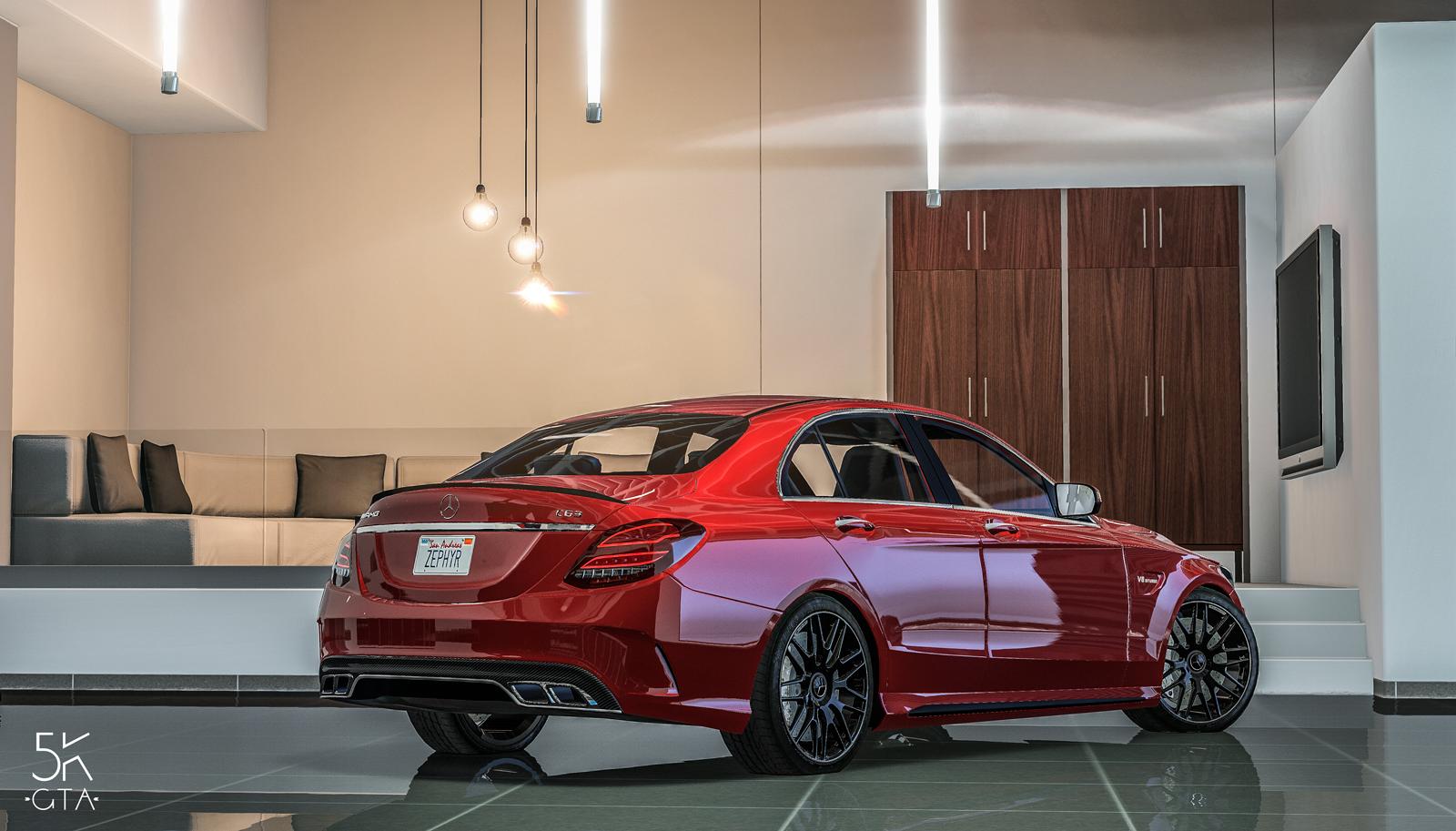 Mercedes-AMG C63 S 2017 v1.1 for GTA 5