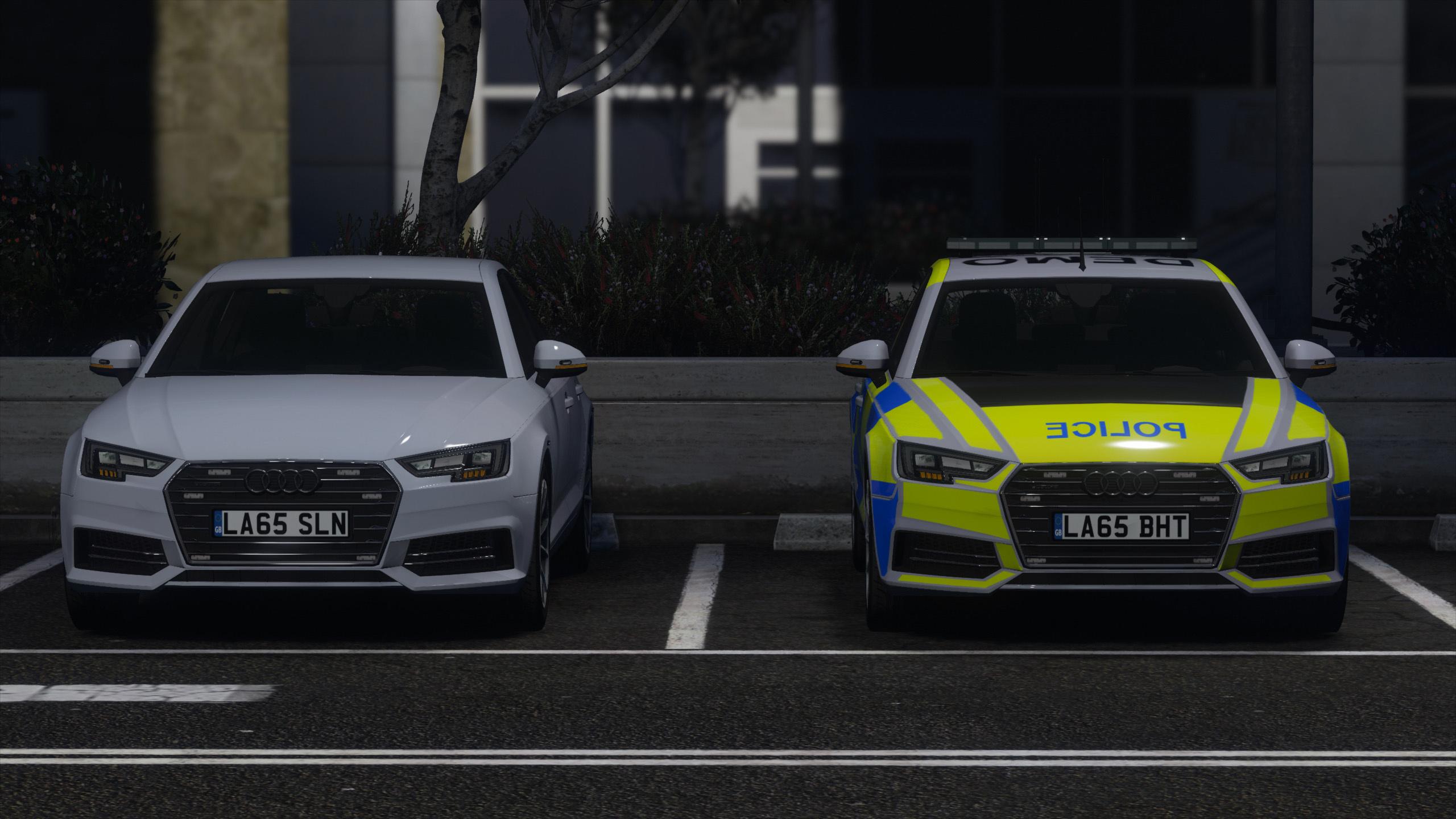 2017 Police Audi A4 Quattro Pack Gta5 Mods Com