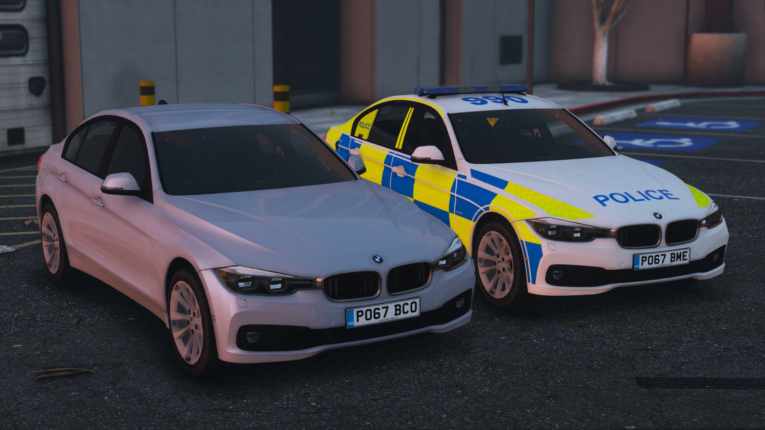 2017 Police Bmw 330d Saloon Pack Replace Els Gta5