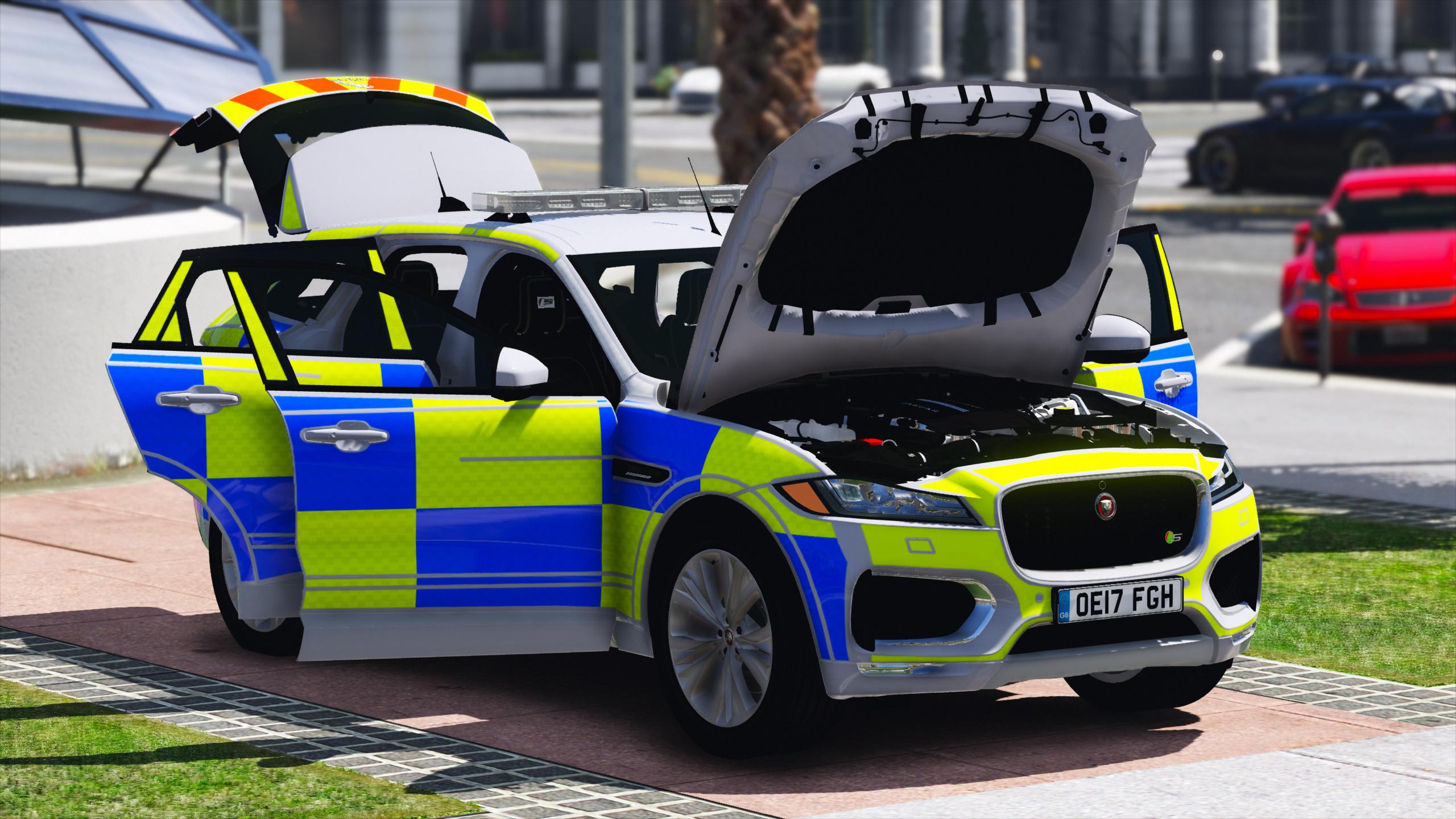 2017 Police Jaguar F Pace Els Pack Gta5 Mods Com