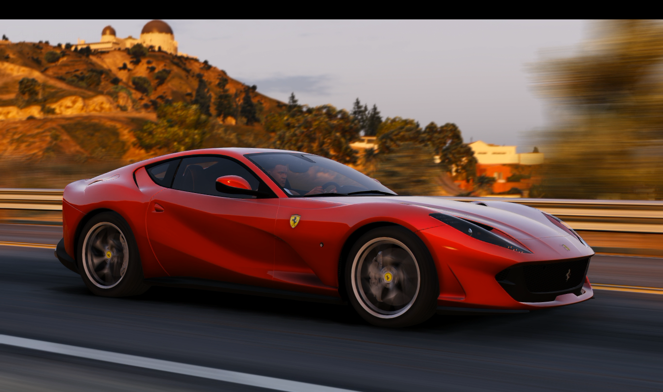 2018 ferrari 812 superfast add on replace gta5. Black Bedroom Furniture Sets. Home Design Ideas