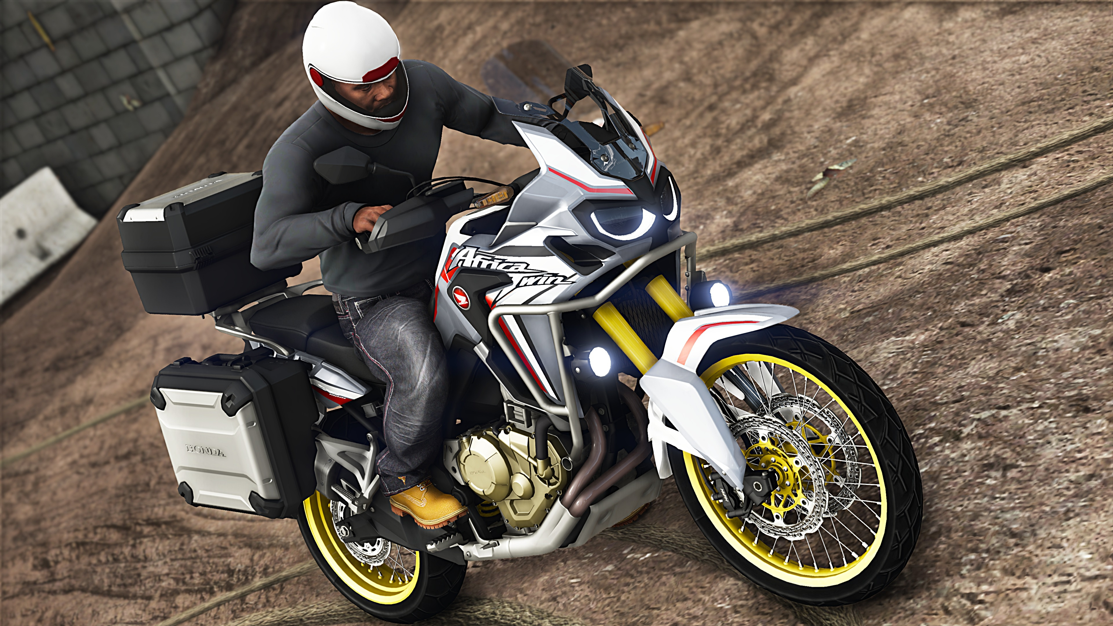 2017 honda crf1000l africa twin addons tuning gta5. Black Bedroom Furniture Sets. Home Design Ideas