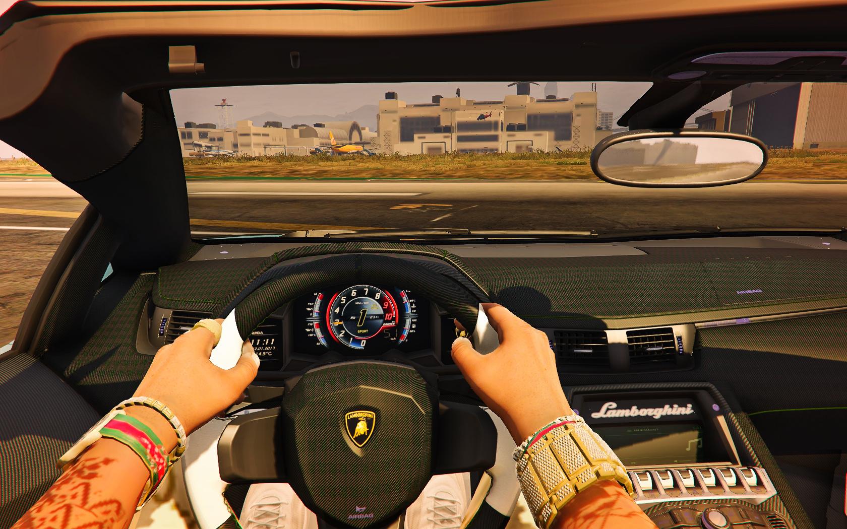 2018 Lamborghini Aventador S Roadster Interior Retexture - GTA5-Mods.com