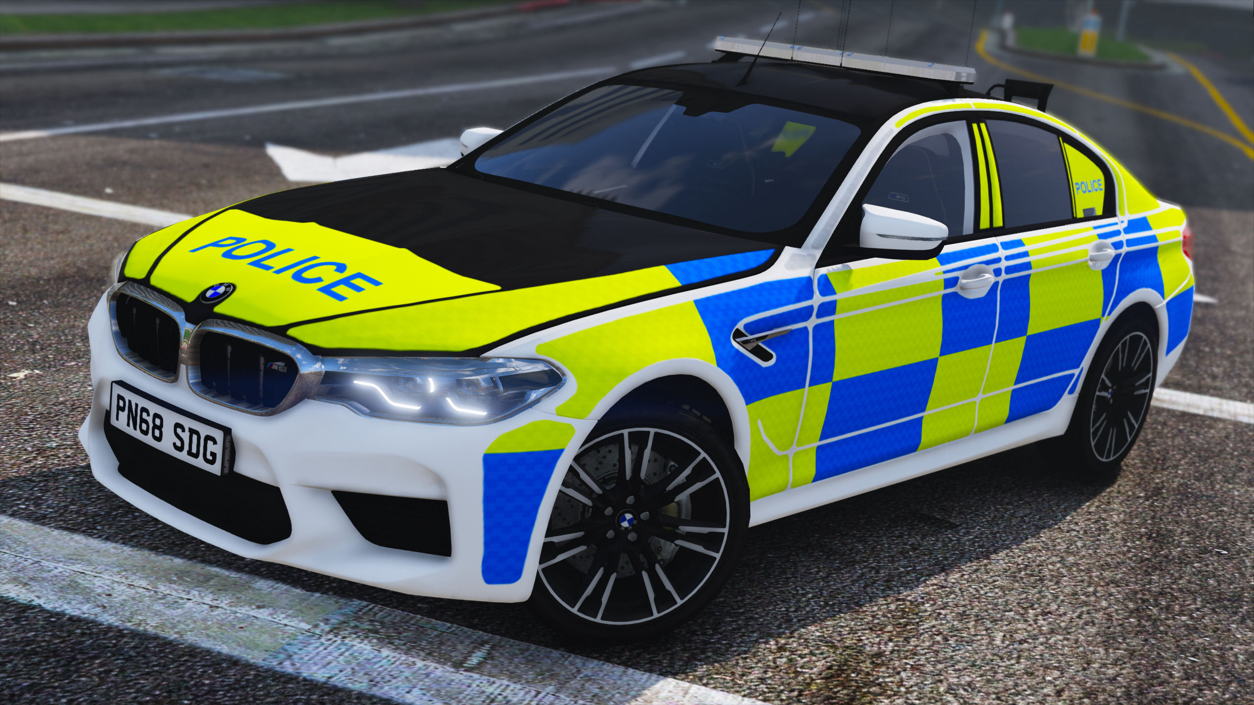 2018 Police BMW M5 F90 [Replace | ELS] - GTA5-Mods com