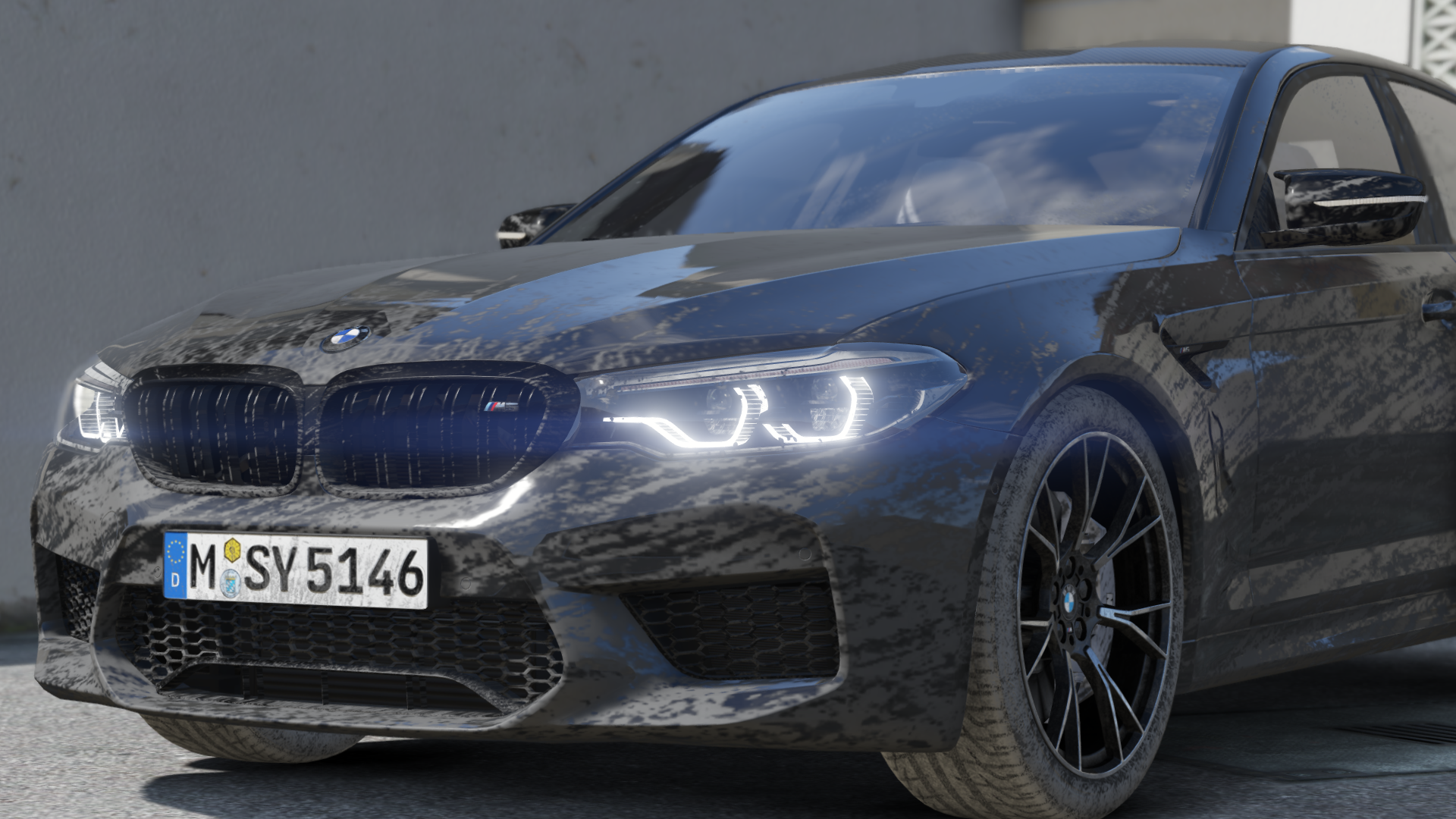 2019 Bmw M5 F90 Competition Add On Template Gta5 Mods Com