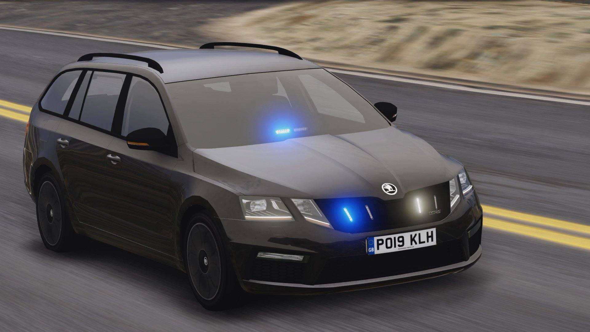 2019 police skoda octavia rs combi els pack replace. Black Bedroom Furniture Sets. Home Design Ideas