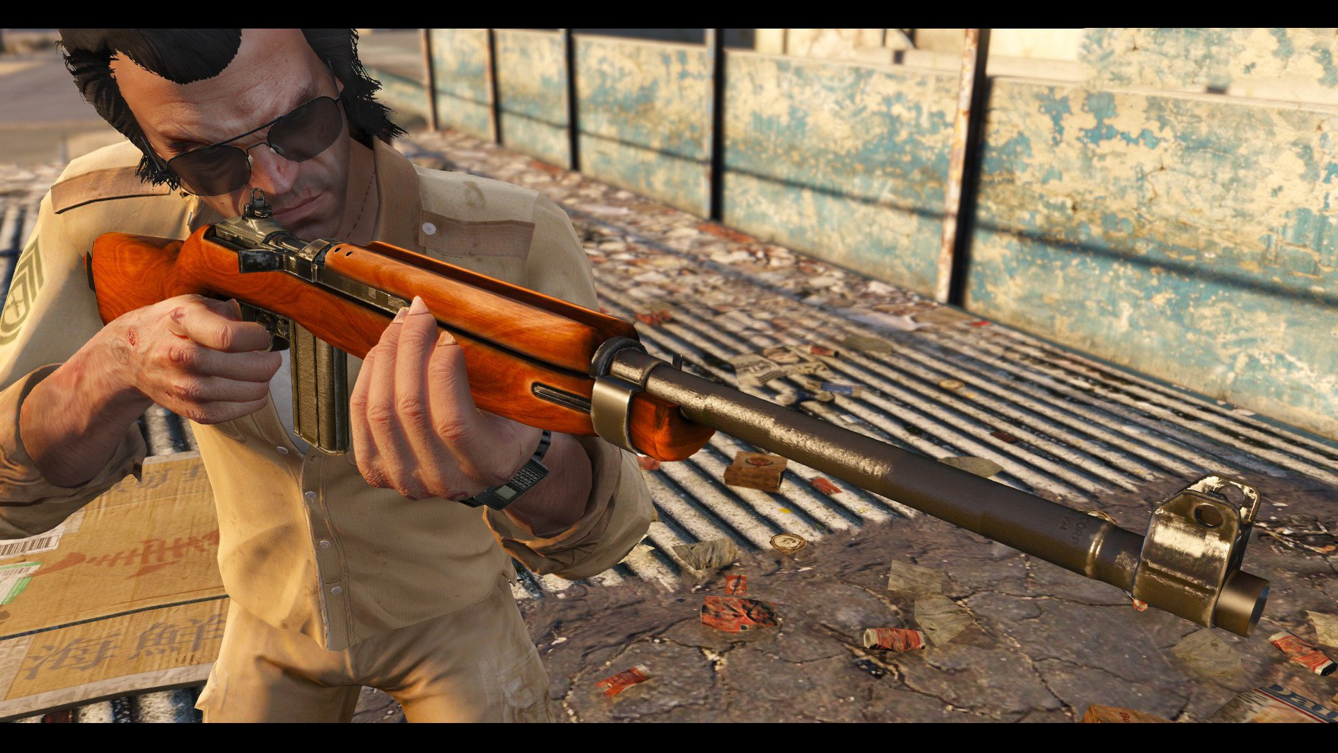 30 cal m1 carbine rifle black mass movie hq gta5 mods com