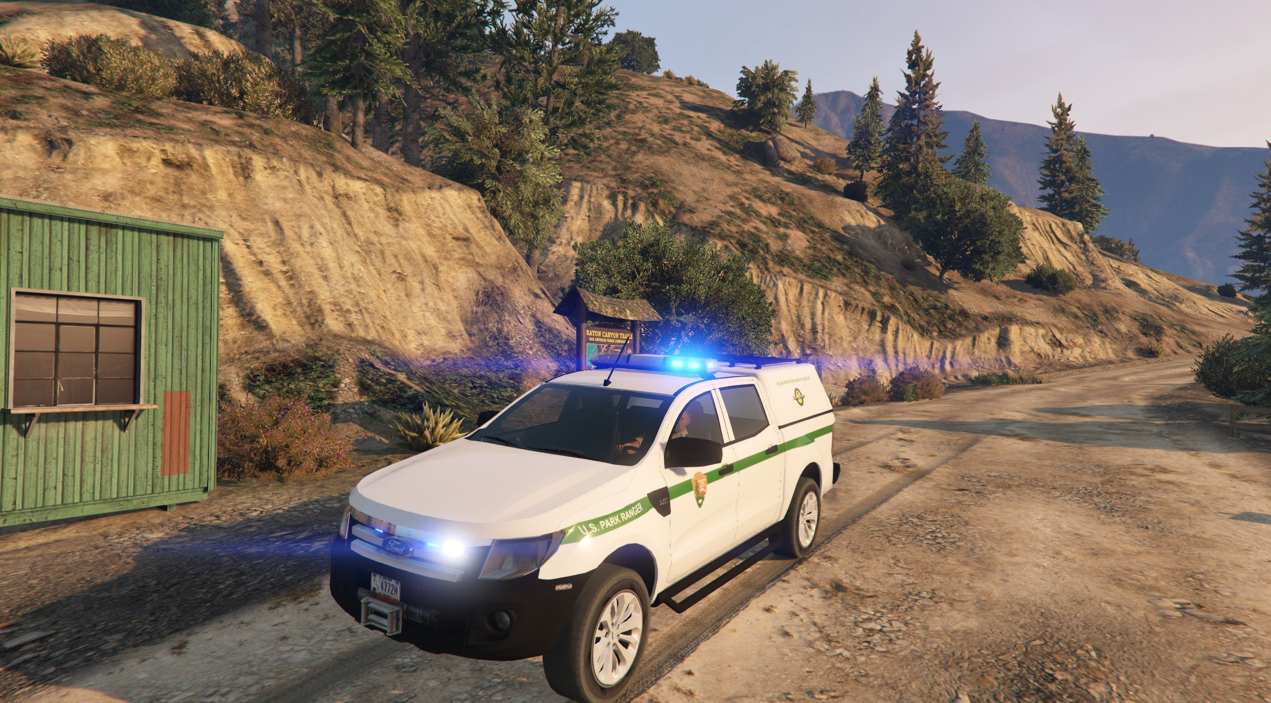 4k Search And Rescue Us Park Ranger Livery For Ford Ranger