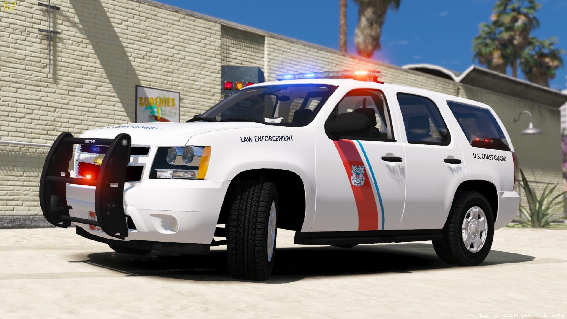 4k U S Coast Guard Chevy Tahoe Gta5 Mods Com