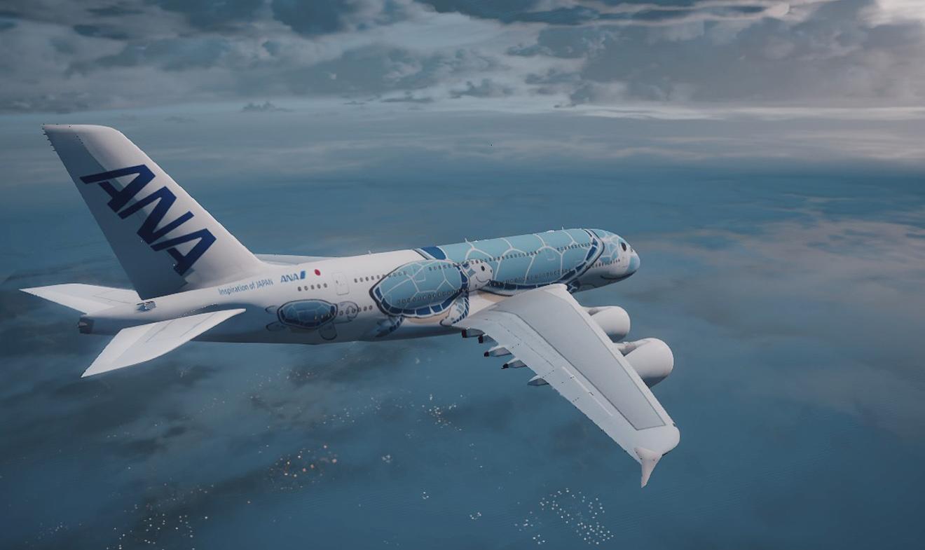 A380 Ana Sea Turtle Psd Gta5 Mods Com
