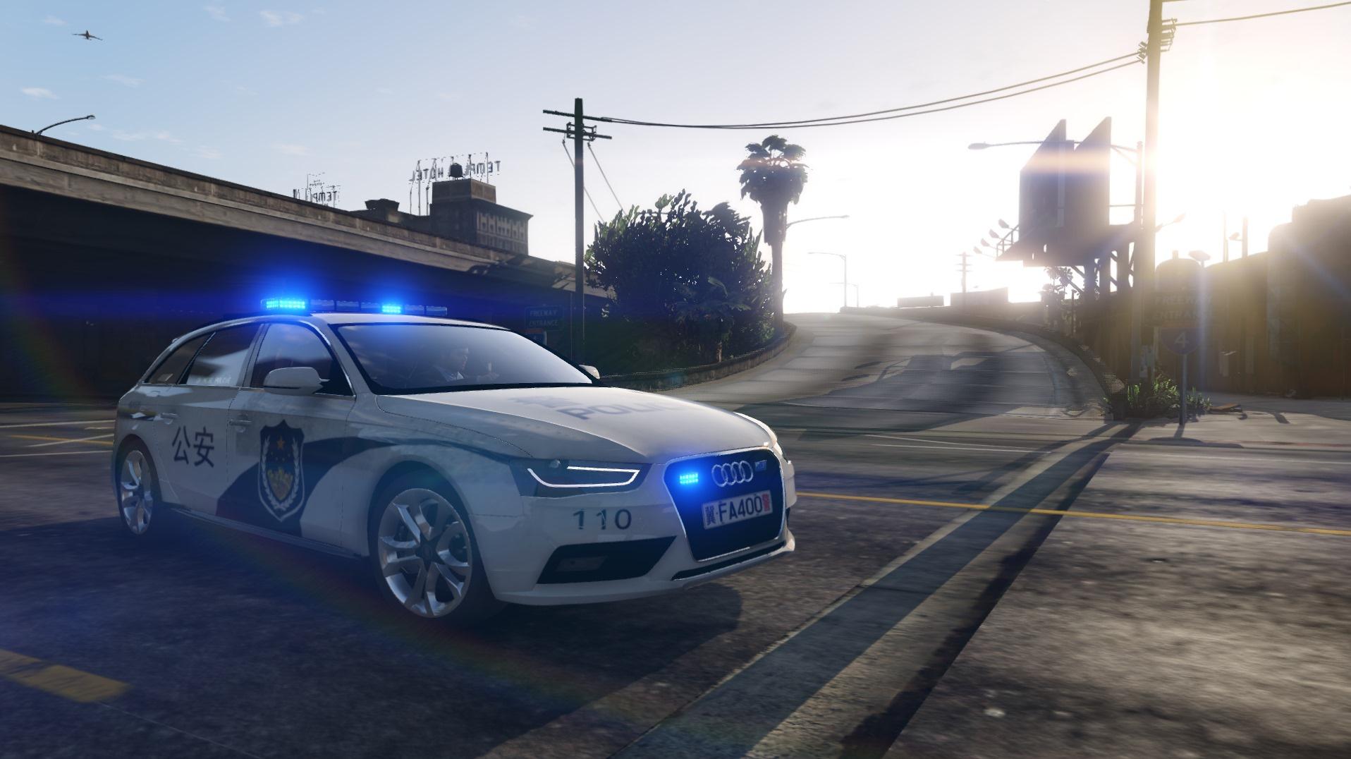斯柯达旅行车_Chinese Police Audi A4 Avant (中国奥迪A4警车) - GTA5-Mods.com