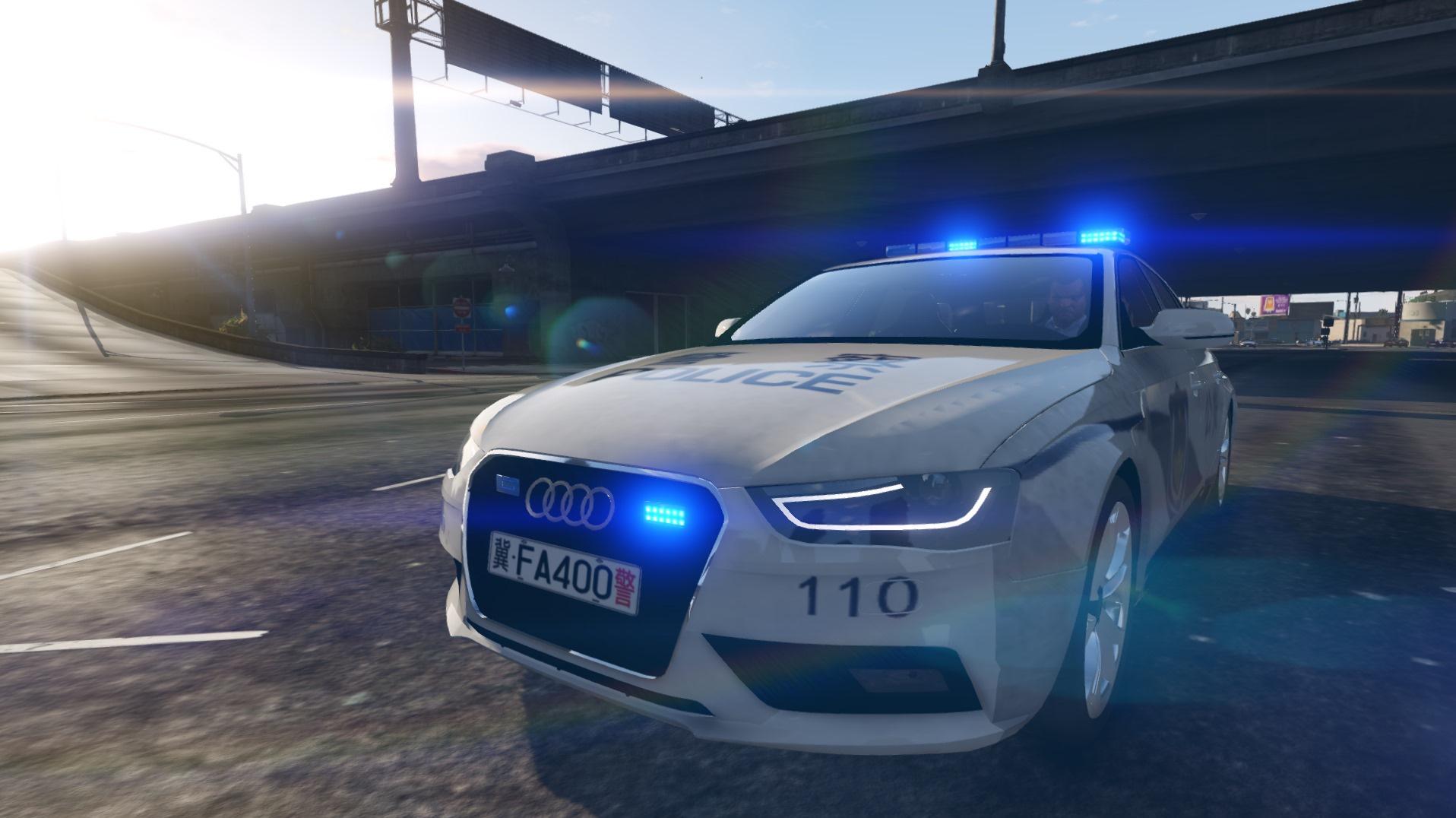 Car Games 2016 >> Chinese Police Audi A4 Avant (中国奥迪A4警车) - GTA5-Mods.com