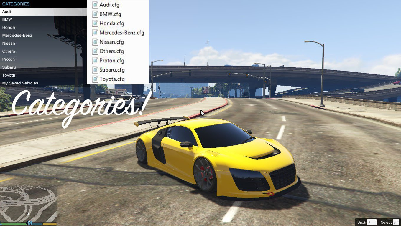 add on car spawner menu gta5. Black Bedroom Furniture Sets. Home Design Ideas
