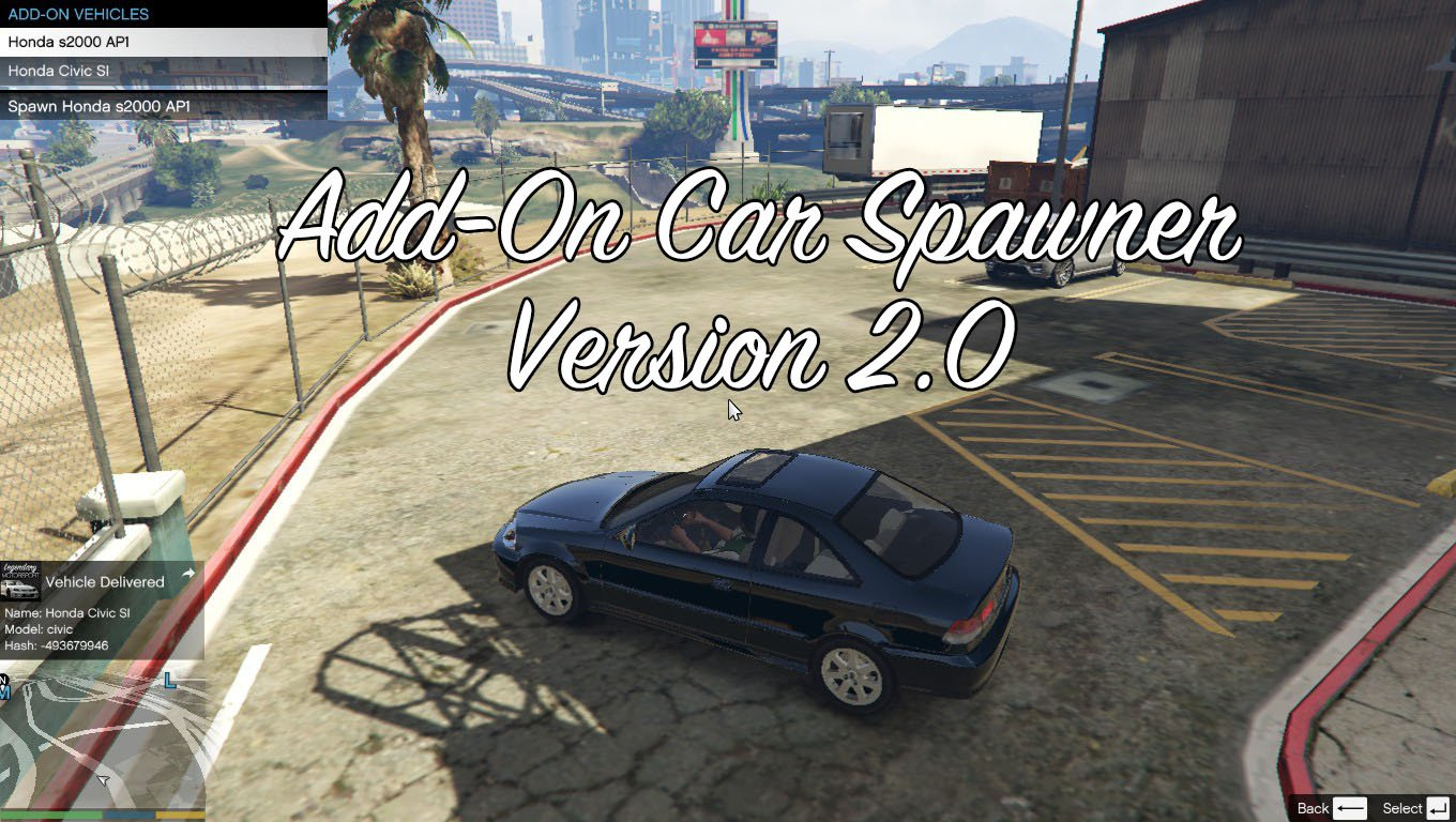 Add-On Car Spawner Menu - GTA5-Mods com