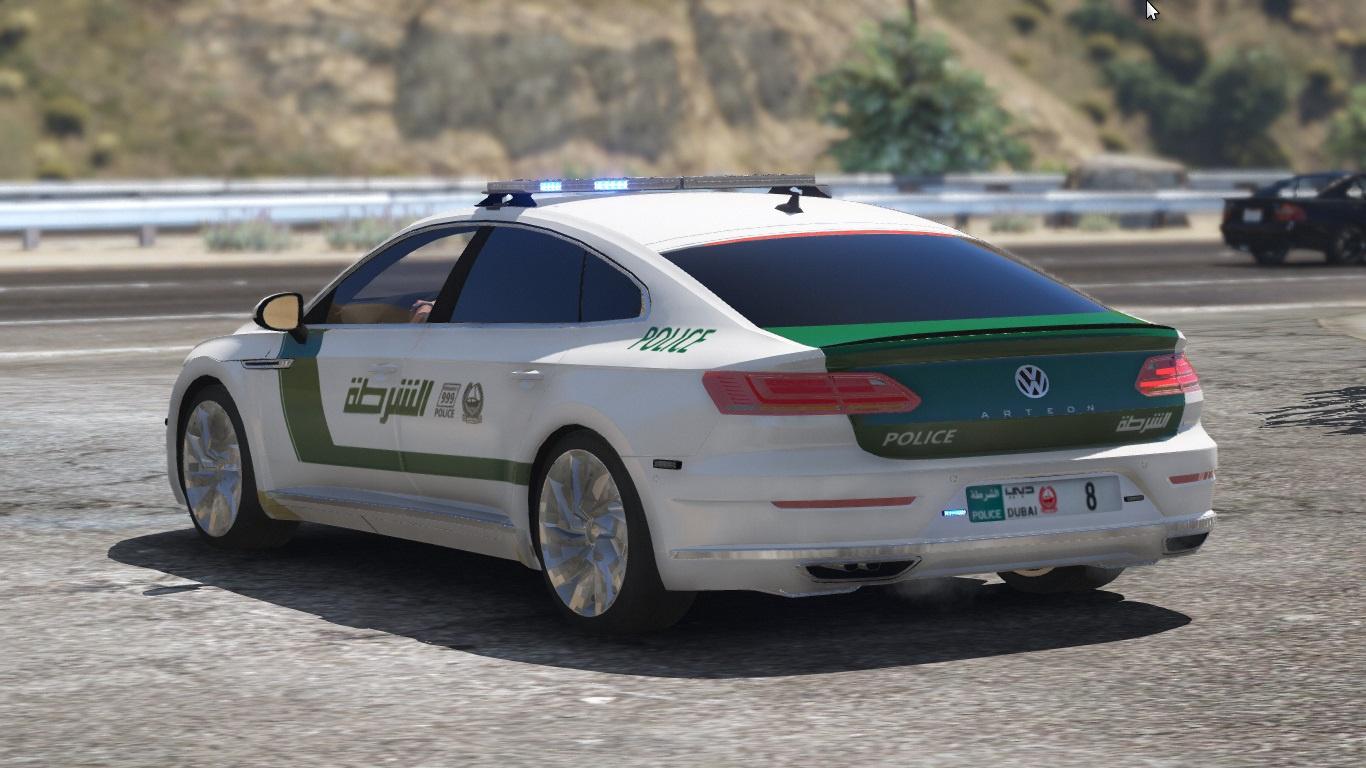 [Add-on | OIV] 2018 Volkswagen Arteon Dubai Police - GTA5-Mods.com