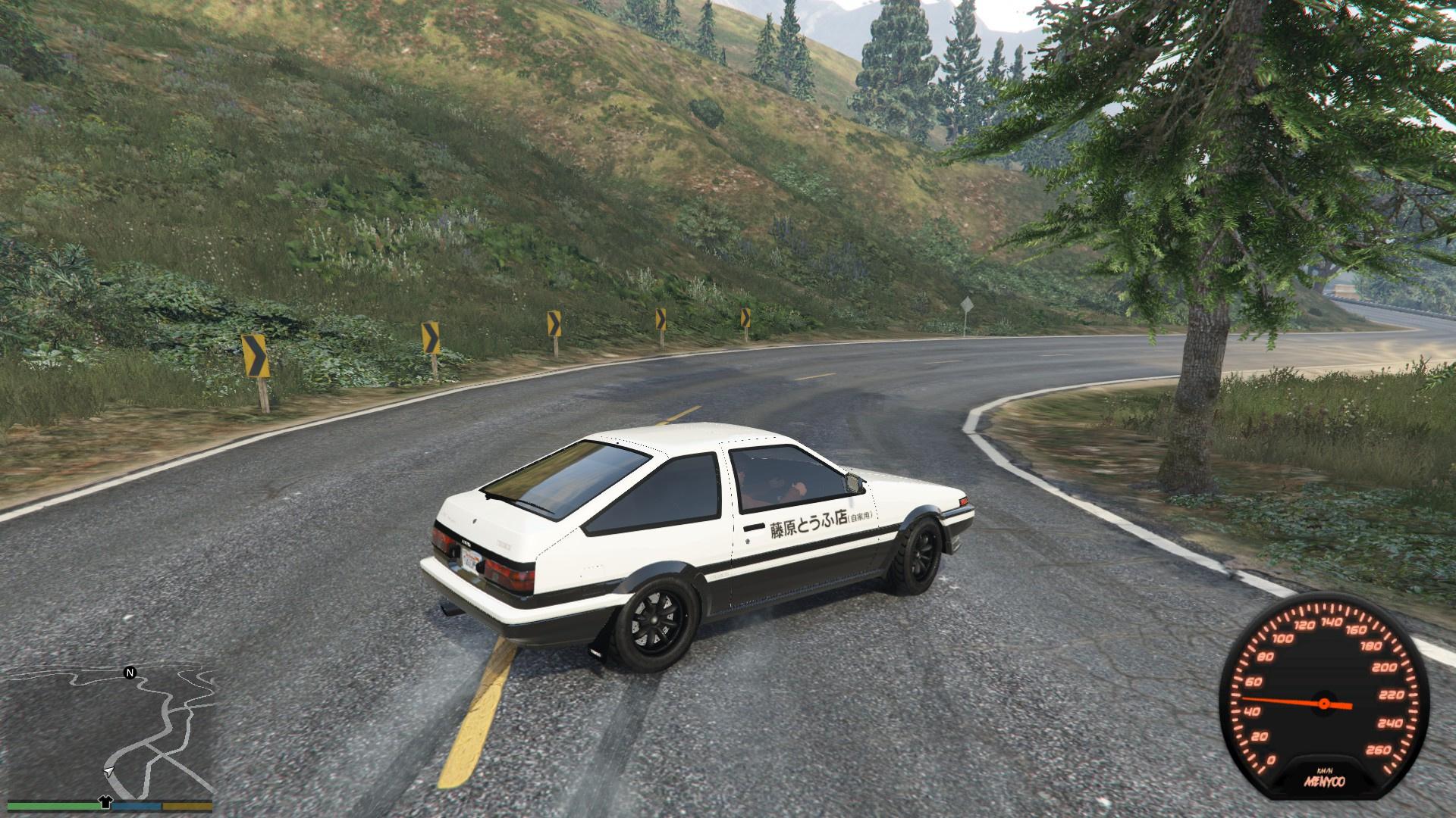 Ae86 Low Power Drift Handling Gta5 Mods Com