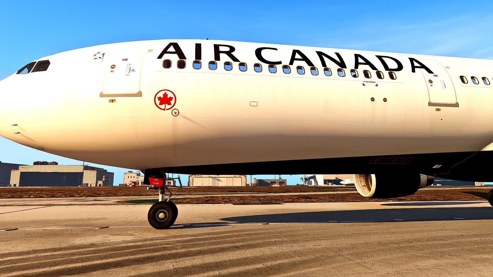 Air Canada 'Raccoon Eyes' Livery for Airbus A330-300 - GTA5