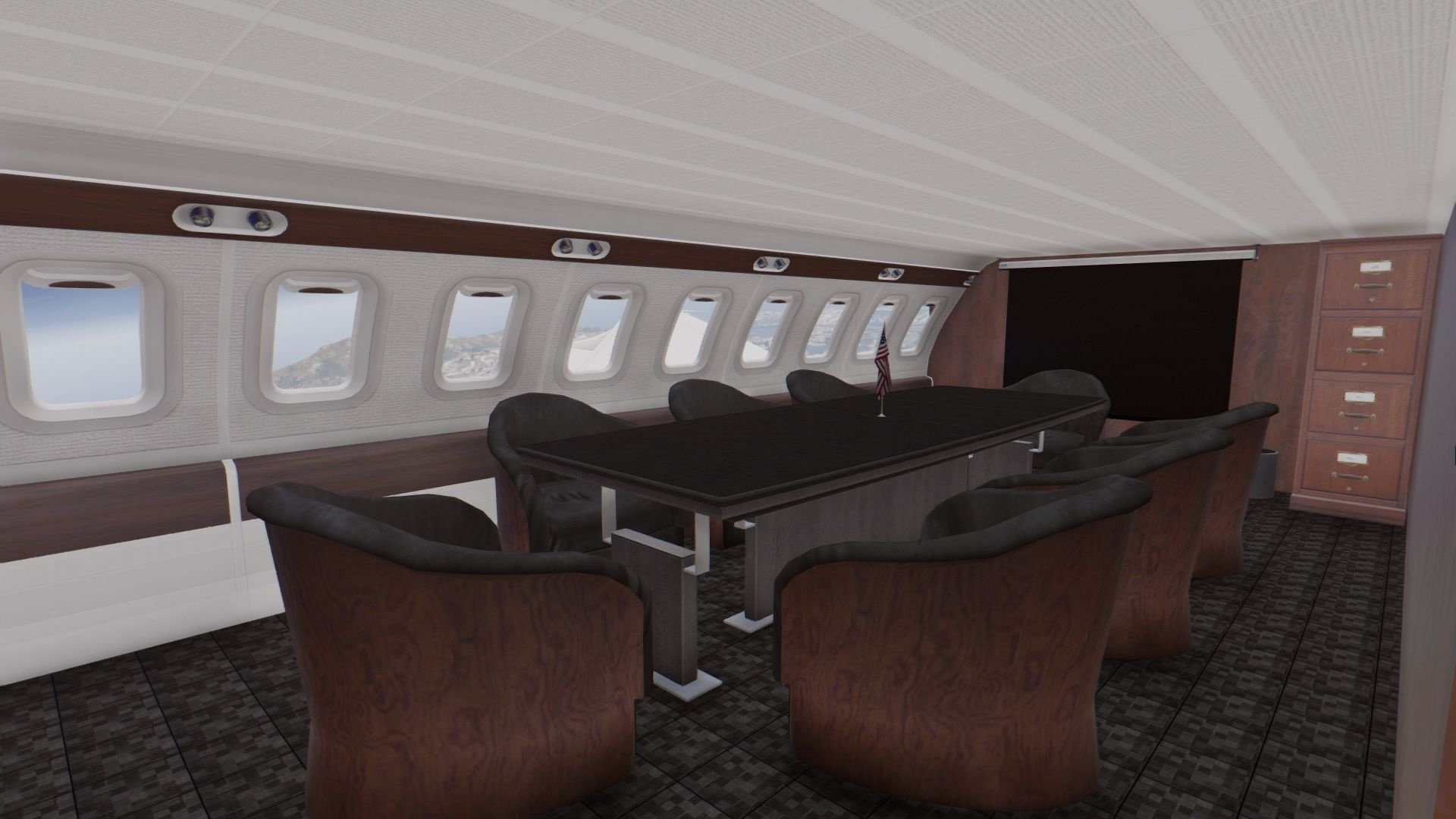 Air Force One Boeing Vc 25a Enterable Interior Add On Gta5 Mods Com