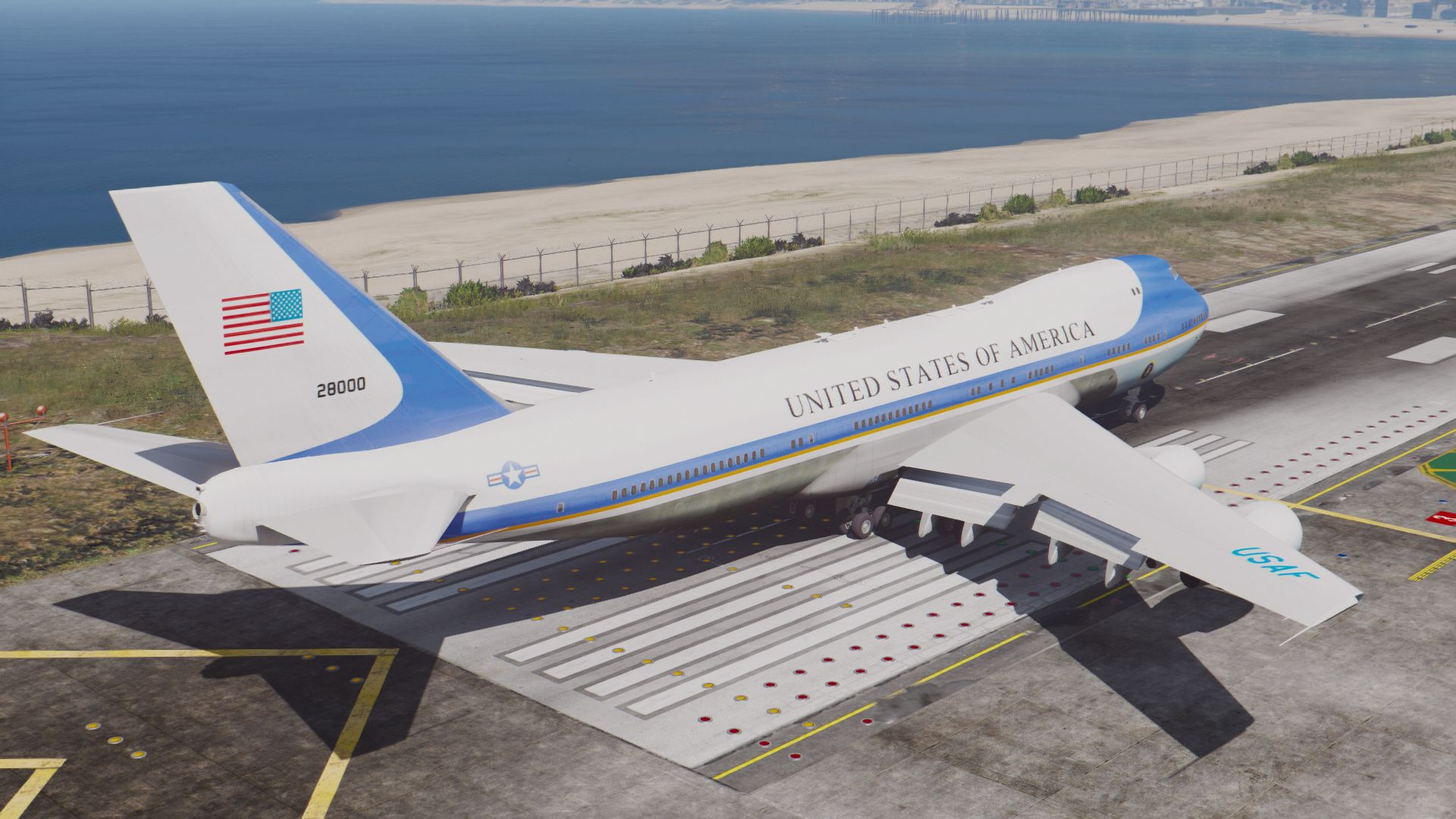 Air Force One Boeing VC-25A [Enterable Interior | Add-On