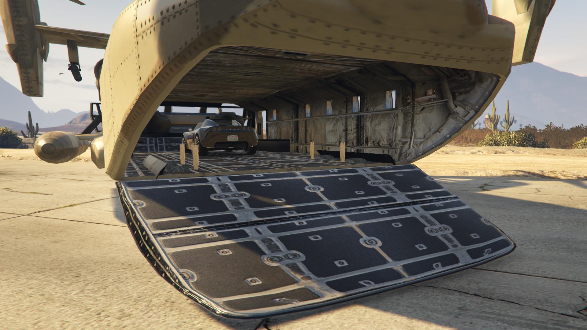 Amphibious armed cargo plane add on replace gta5 for Gta sa plane interior mod