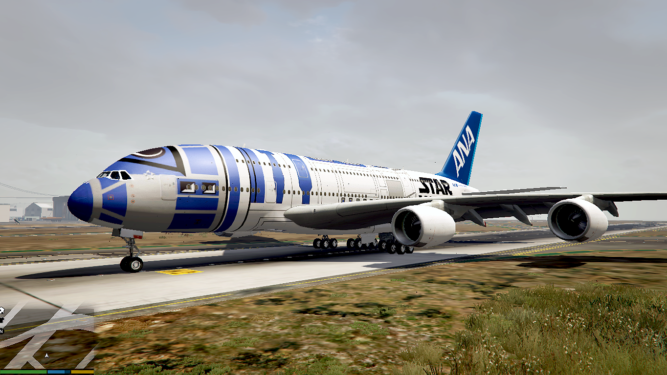 Ana Star Wars R2 D2 Airbus A380 800 Gta5 Mods Com