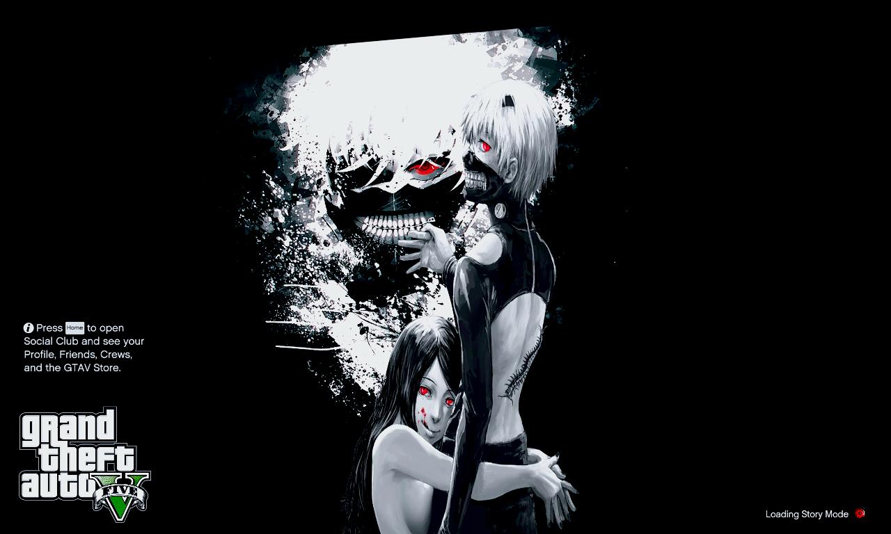 Anime Tokyo Ghoul Loading Screens Gta5 Mods Com