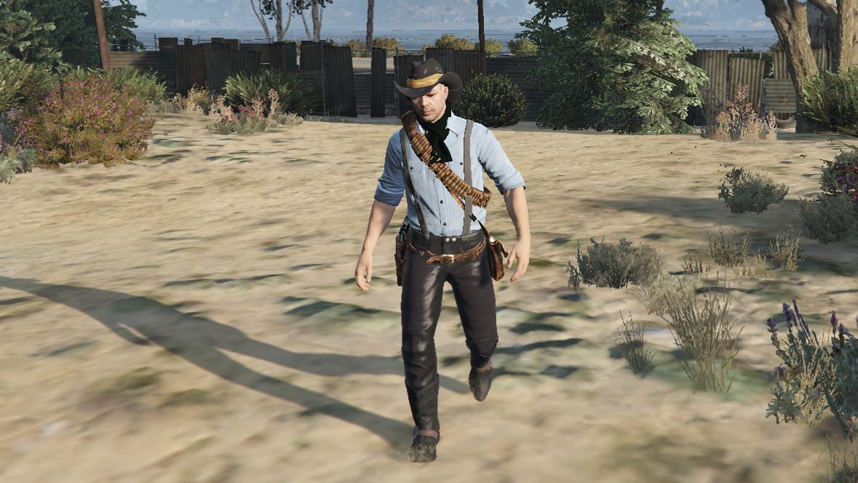 Arthur Morgan Rdr2 3 Outfits Gta5 Mods Com