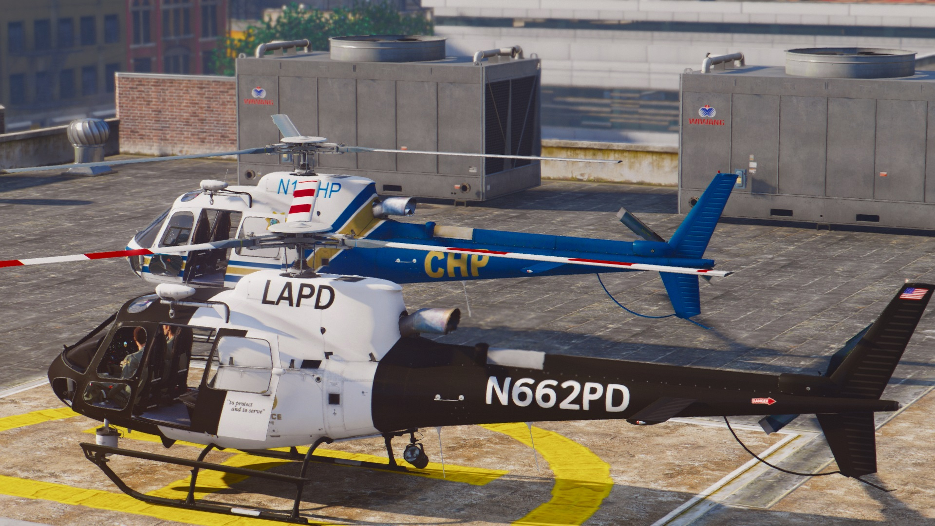 as 350 ecureuil lapd u0026 chp add on replace livery gta5