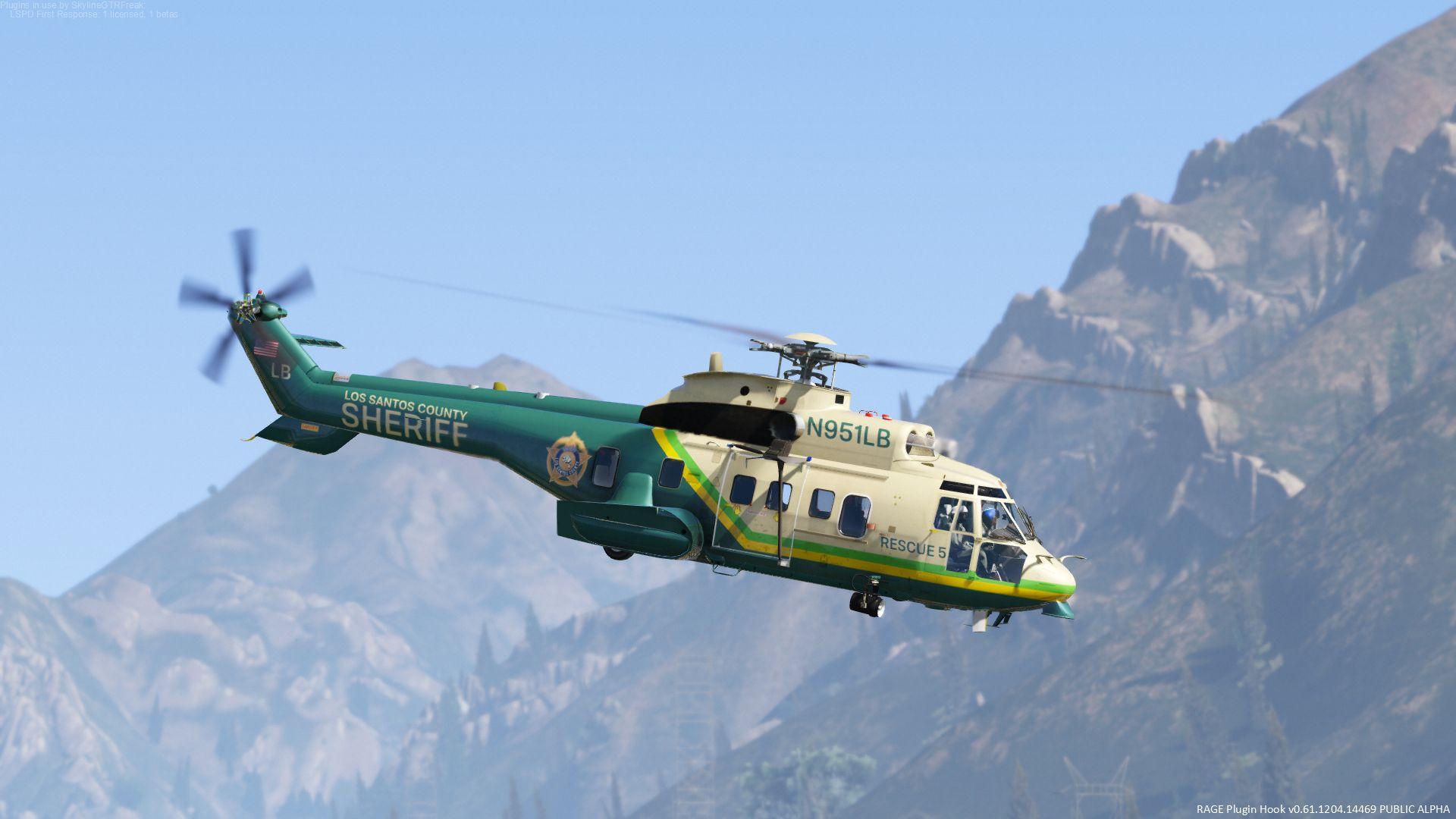AS332 Super Puma LA (LS) County Sheriff [Add-On] - GTA5-Mods com