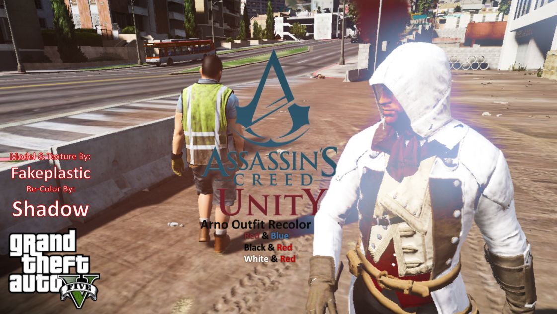 Assassin S Creed Unity Arno Outfit Recolor Pack Gta5 Mods Com
