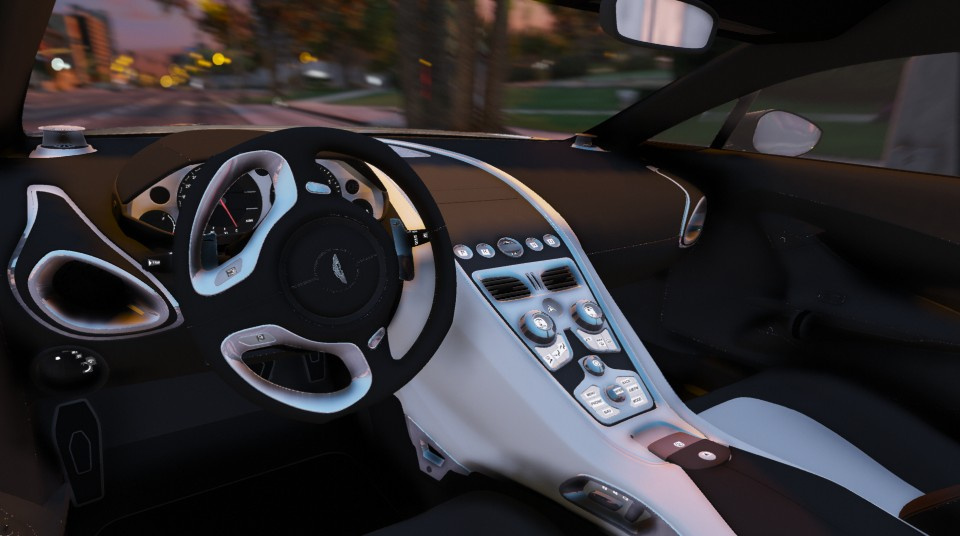 aston martin one 77 black interior. aston martin one77 addon autovista autospoiler one 77 black interior