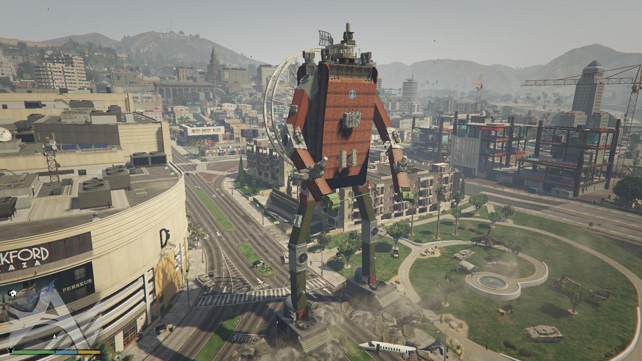 attack of the huge robot in los santos gta5 mods com