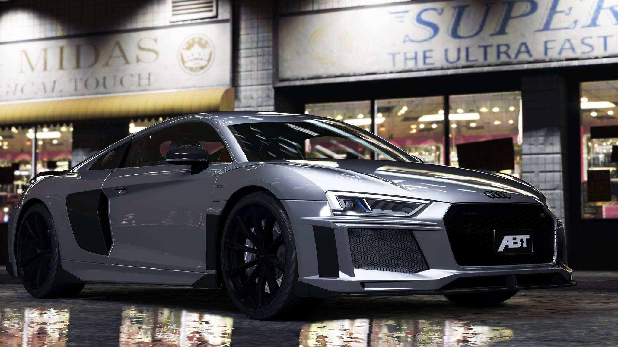 Audi R8 V10 Abt Add On Gta5 Mods Com