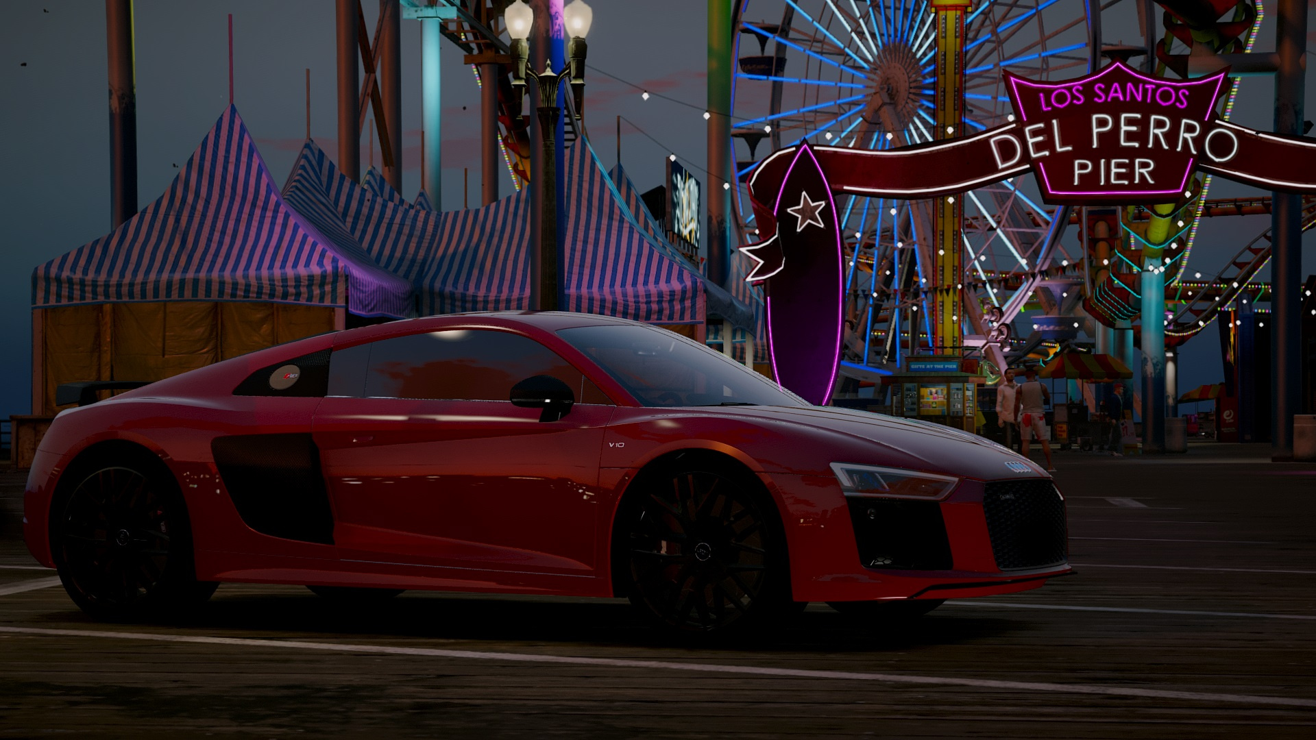 Audi R8 V10 Plus 2017 Add On Replace Tuning Gta5 Mods Com