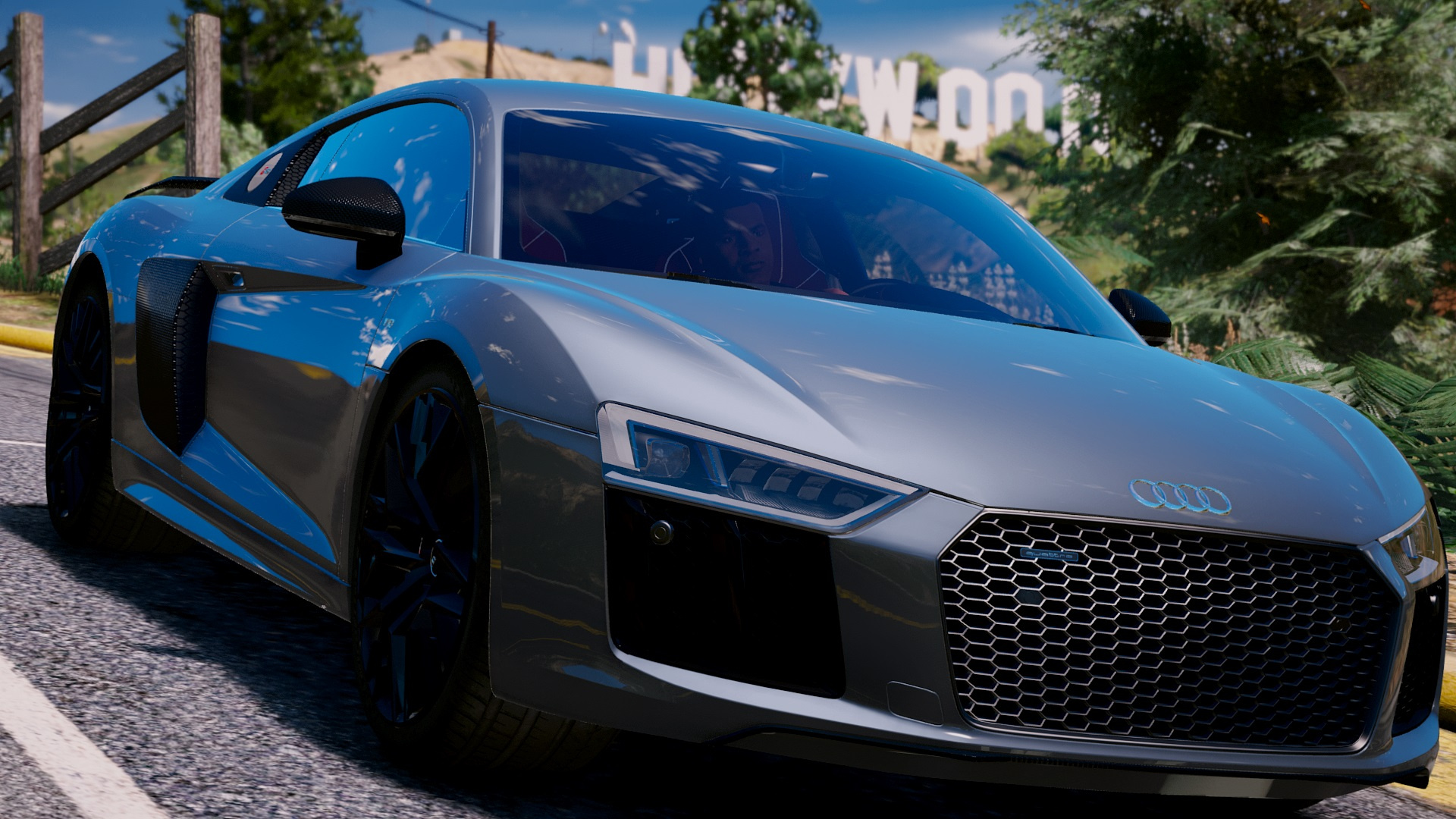 audi r8 v10 plus 2017 add on replace tuning gta5. Black Bedroom Furniture Sets. Home Design Ideas