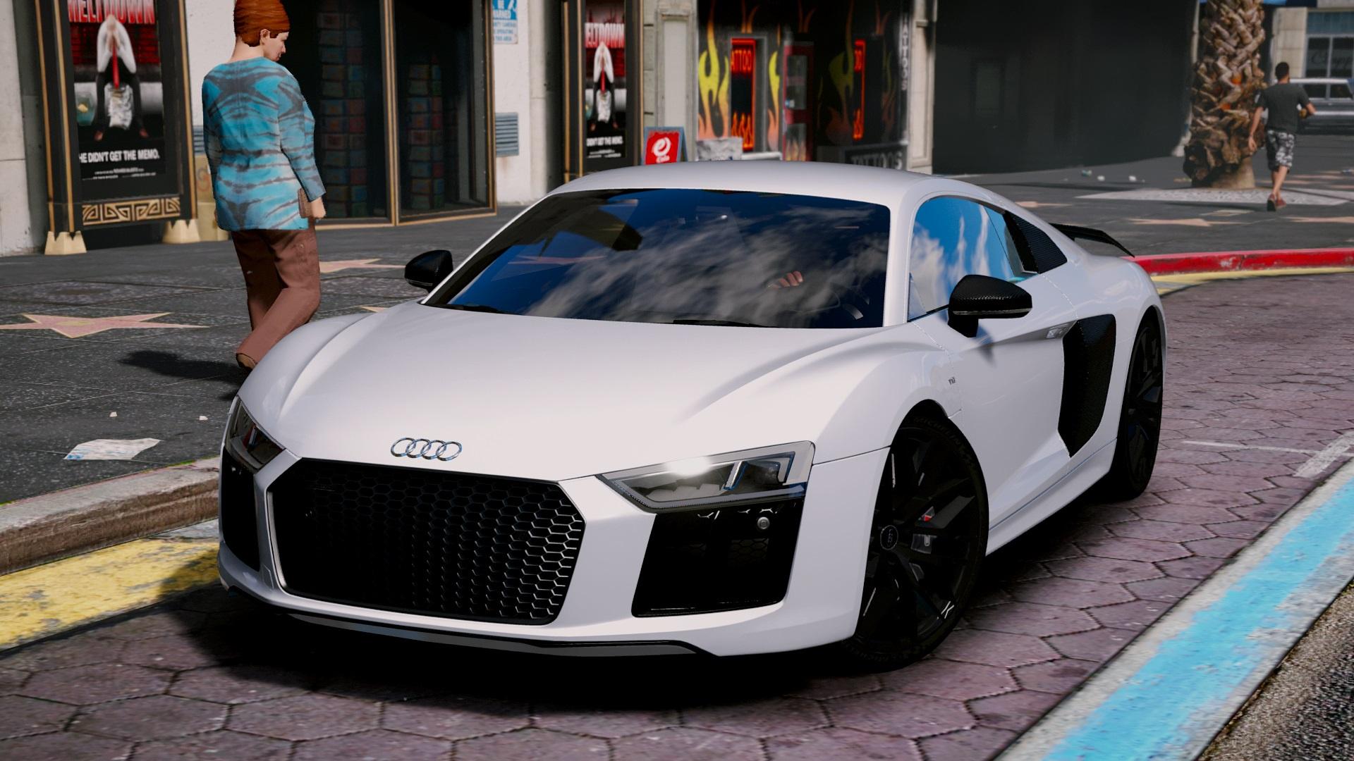 Audi R8 V10 Plus 2017 Add On Replace Tuning Gta5 Mods Com